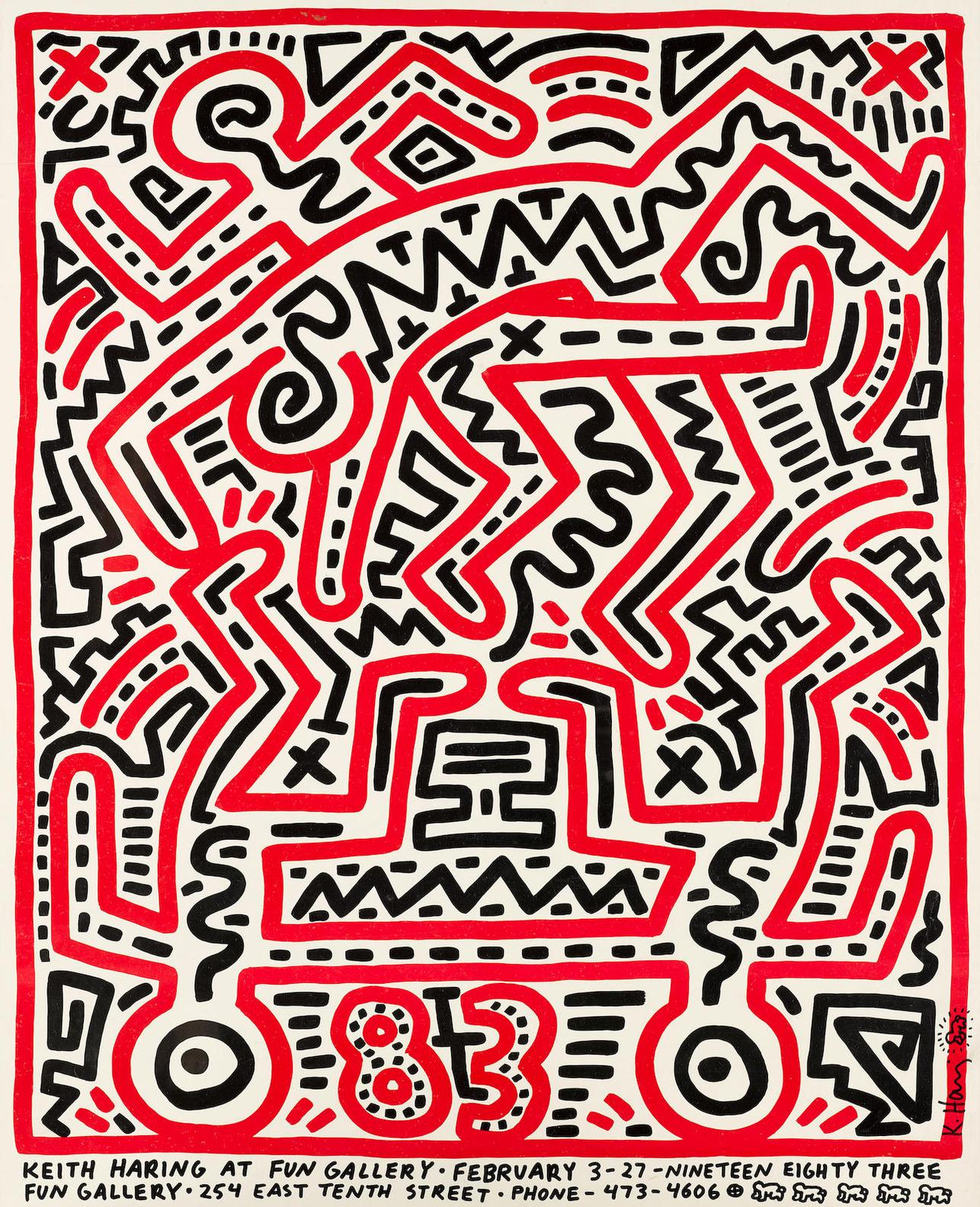 Keith Haring-Fun Gallery Exhibition Poster-1983