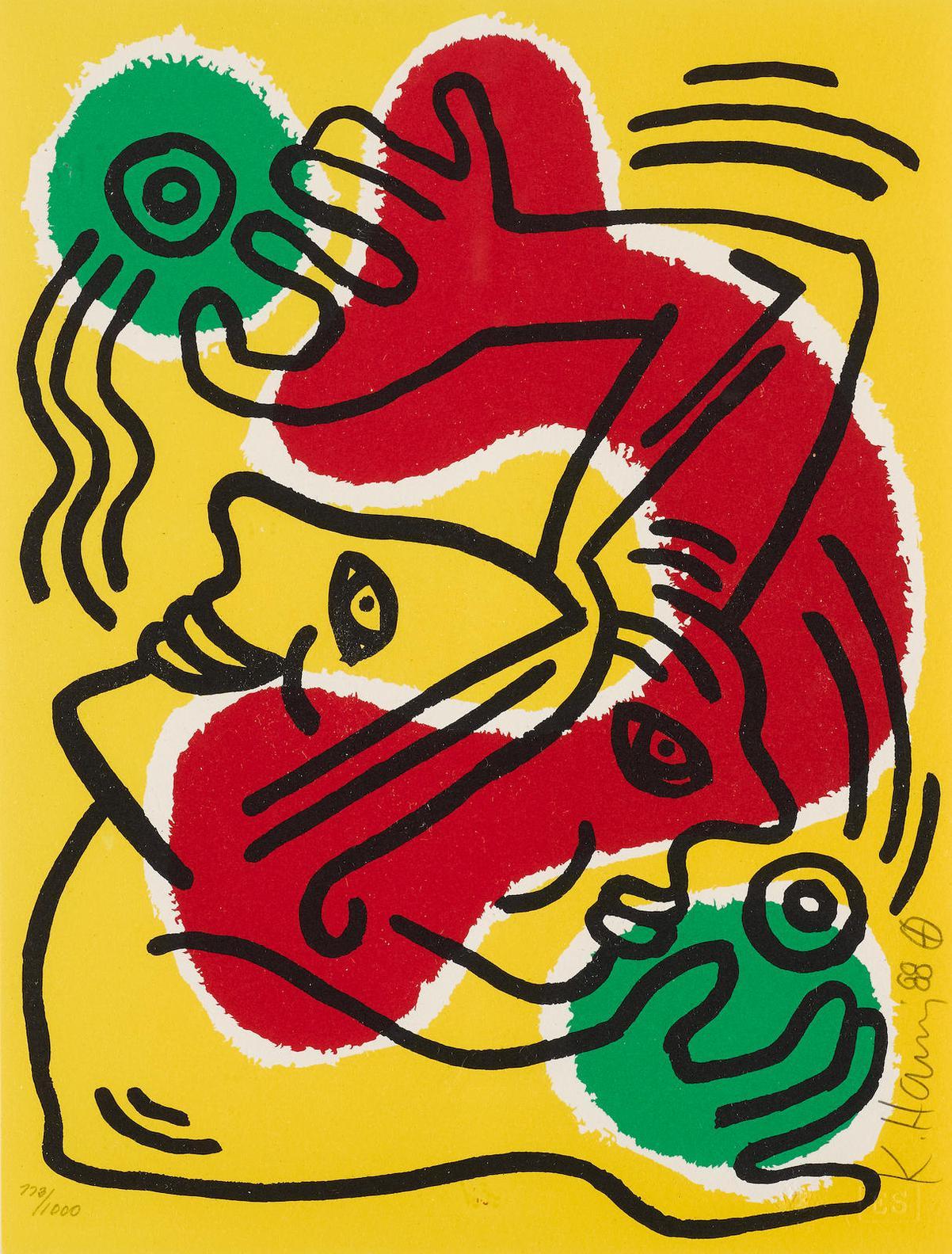 Keith Haring-International Volunteer Day (L. P. 93)-1988