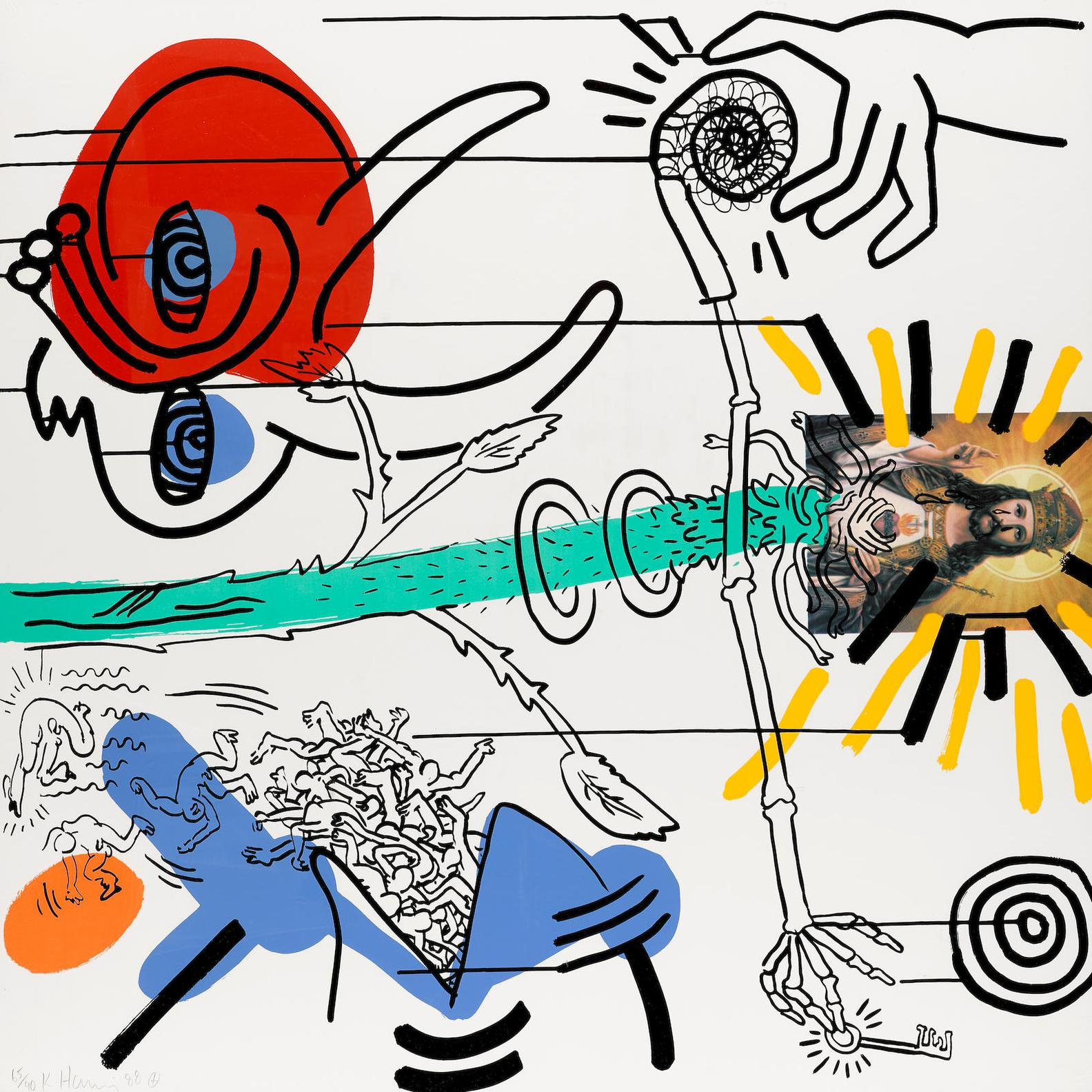 Keith Haring-Apocalypse #10 (Litterman P.108)-1988