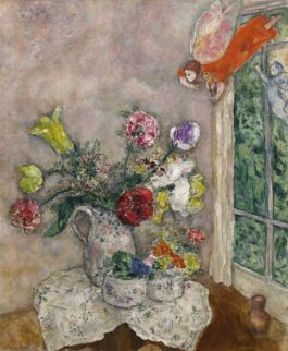 Marc Chagall-Fleurs De Printemps (La Cruche Aux Fleurs De Printemps)-1930