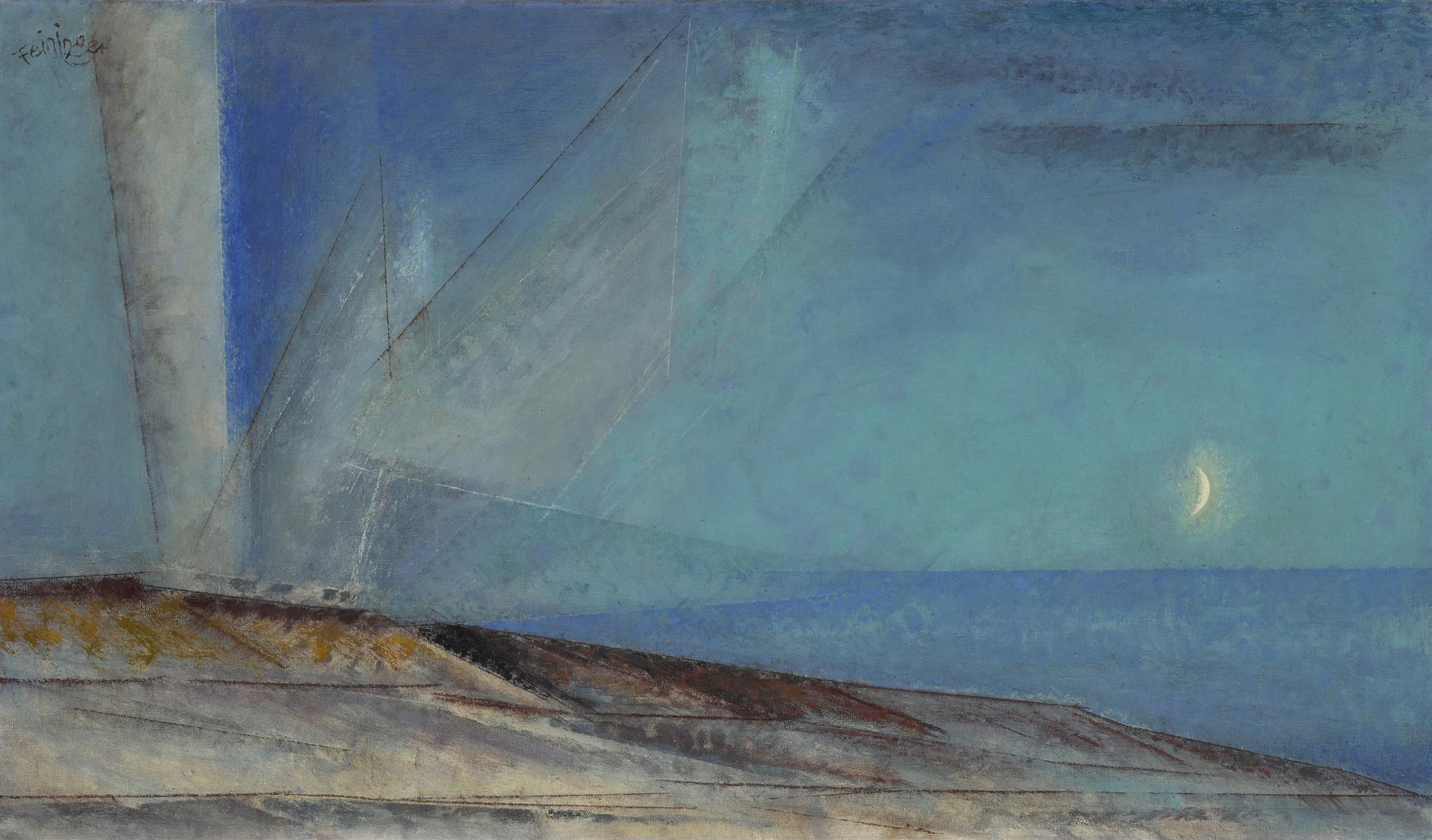 Lyonel Feininger-Dunes, Hazy Evening-1944
