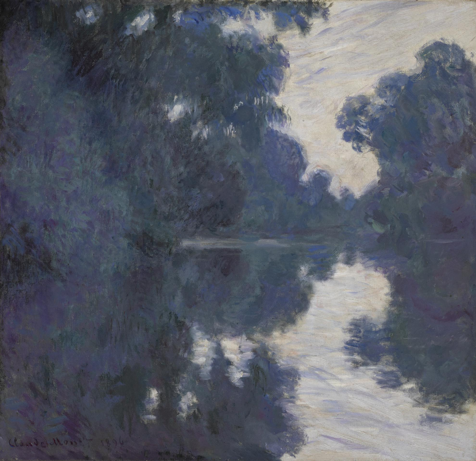 Claude Monet-Matinee Sur La Seine-1896