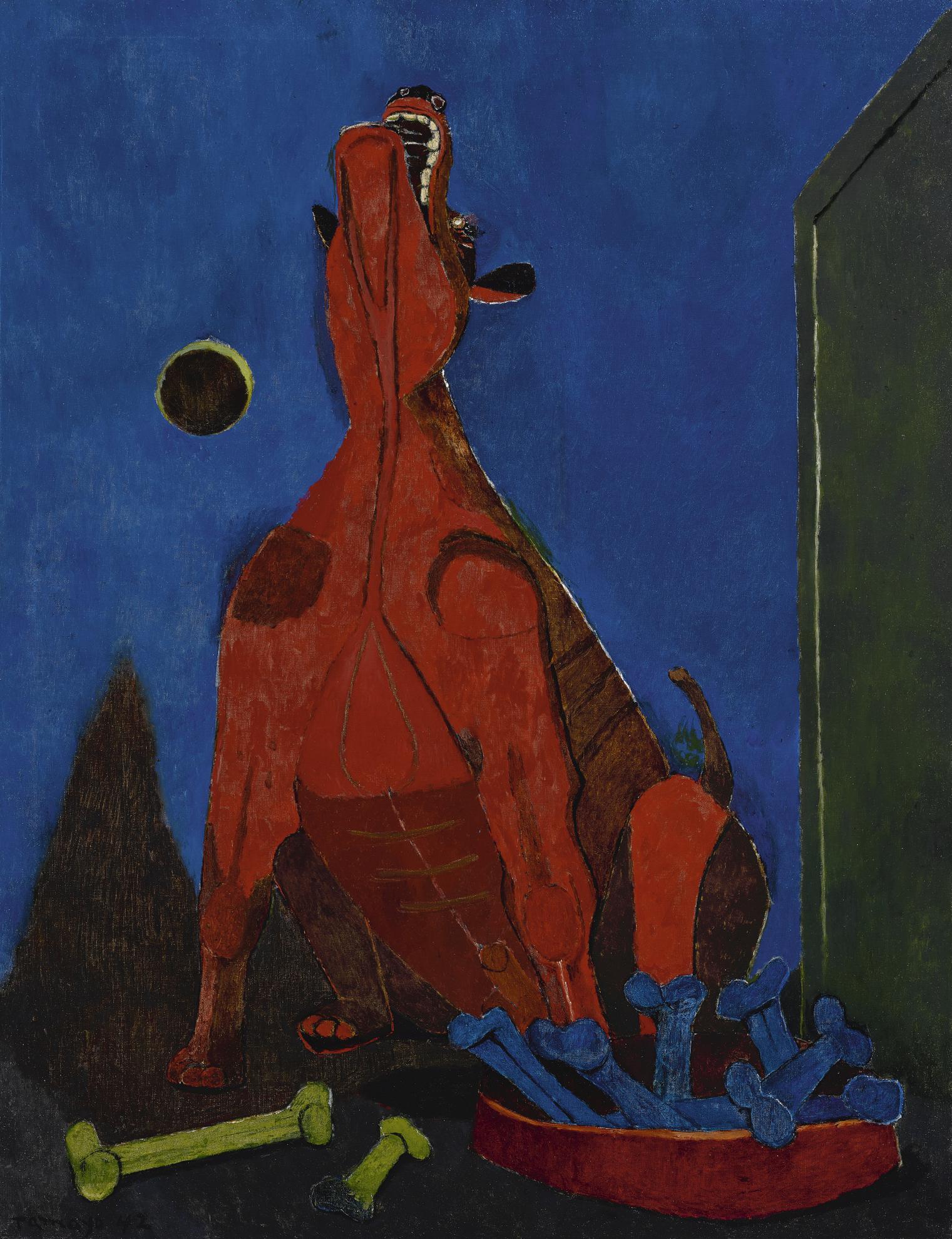 Rufino Tamayo-Perro Aullando A La Luna (Dog Howling At The Moon)-1942