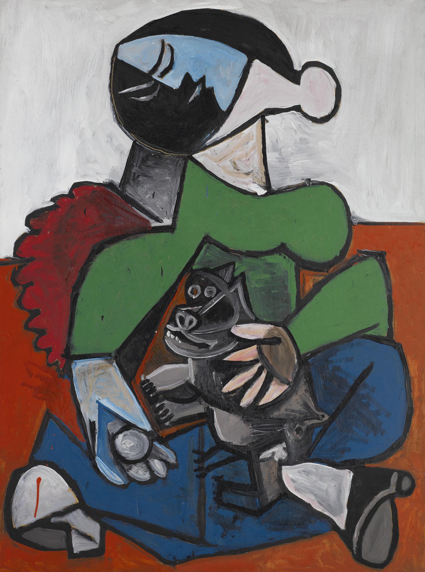 Pablo Picasso-Femme Au Chien-1953