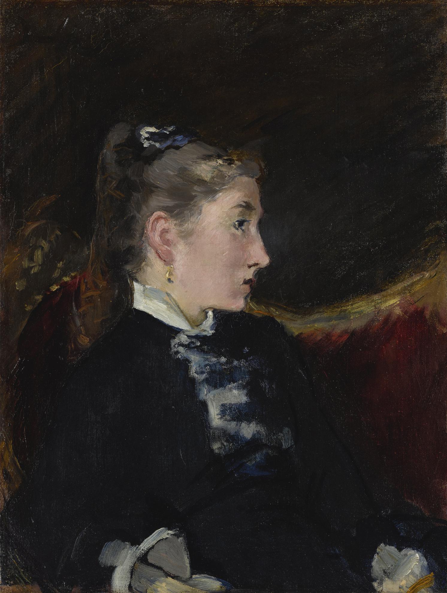 Edouard Manet-Profil De Jeune Fille-1880