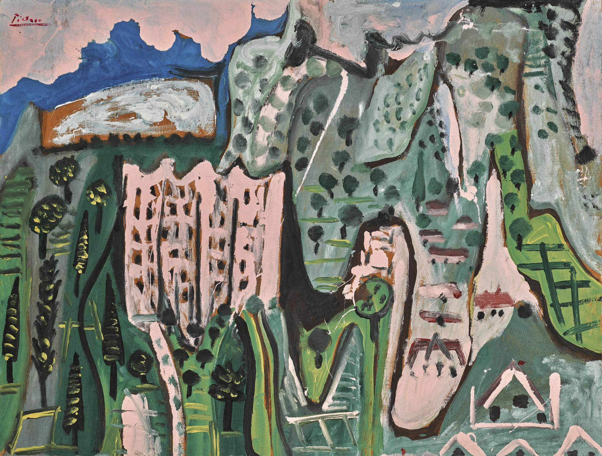 Pablo Picasso-Paysage-1965