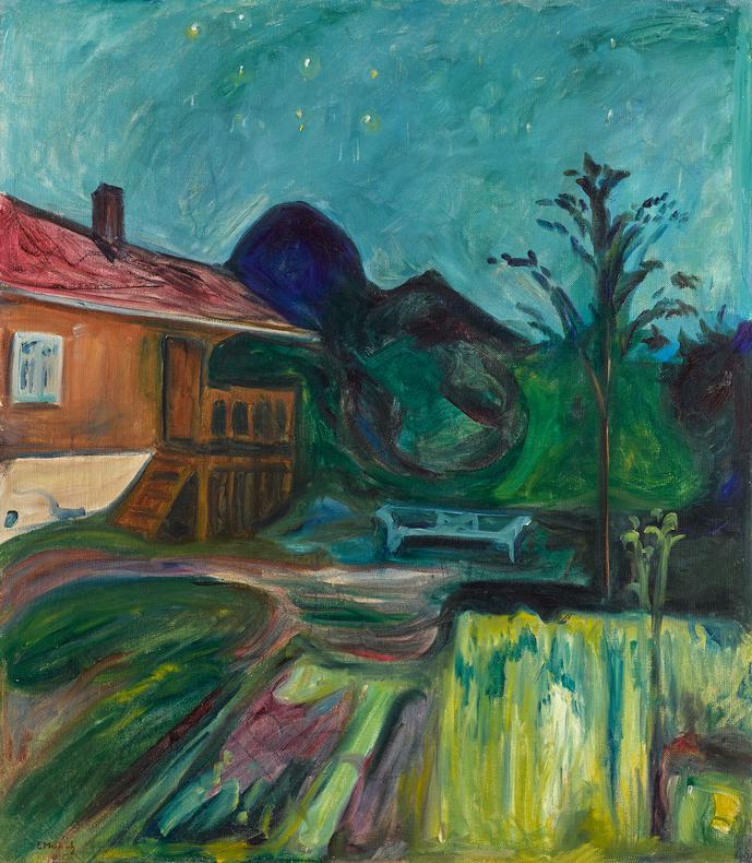 Edvard Munch-Sommernatt (Summer Night)-1902