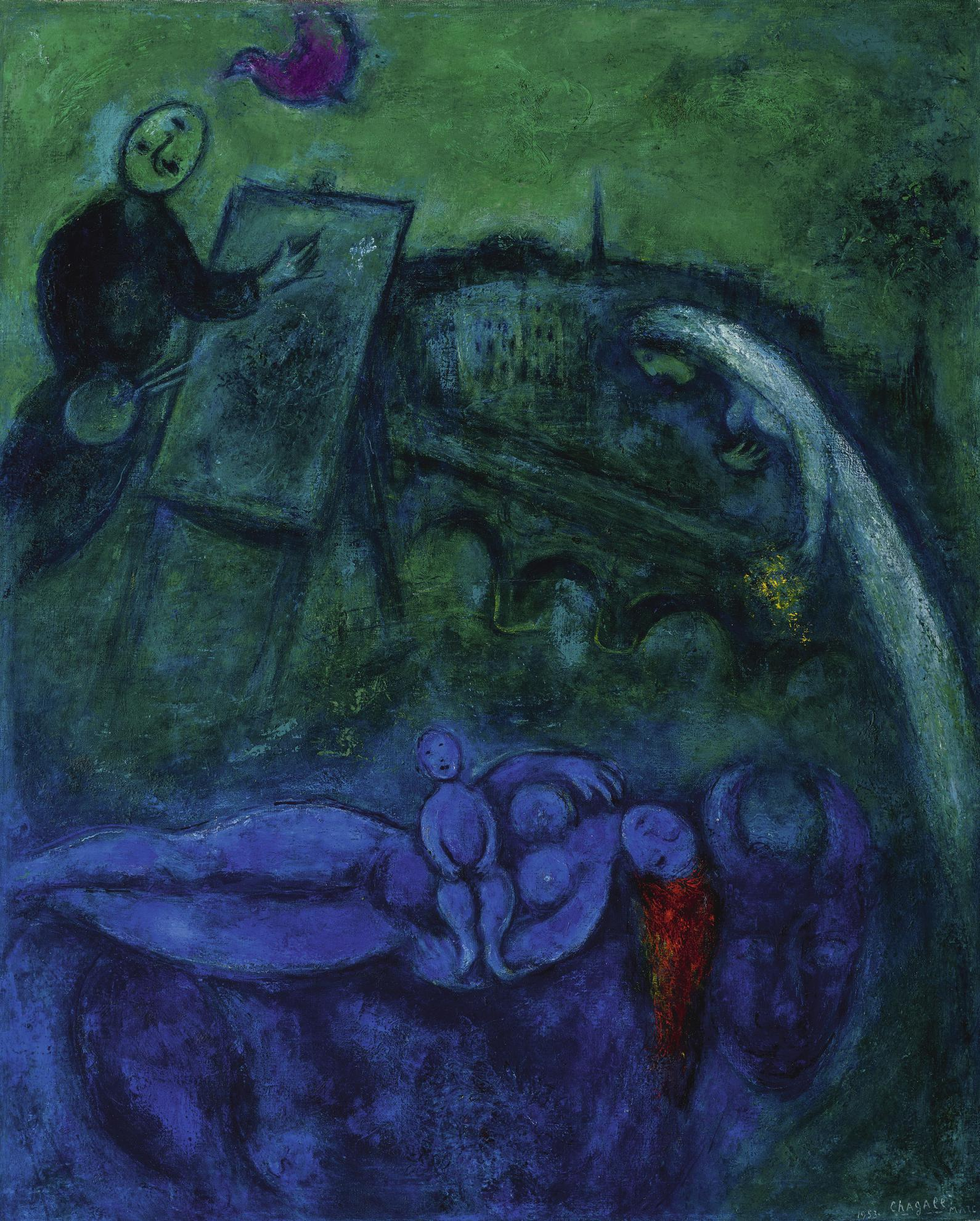 Marc Chagall-Le Pont-Neuf-1953