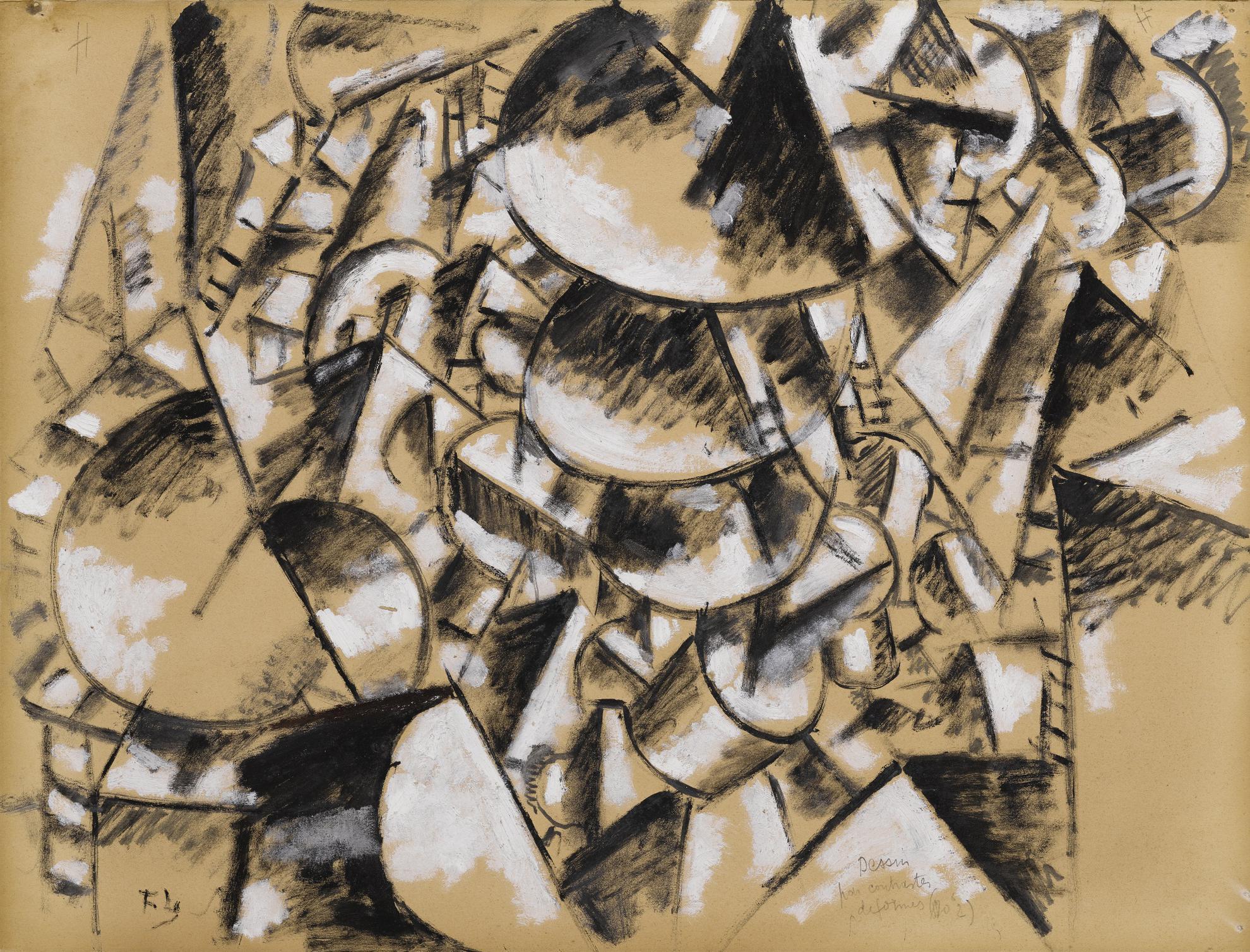 Fernand Leger-Dessin Pour Contrastes De Formes No. 2-1914