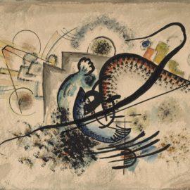 Wassily Kandinsky-Die Schwarze Linie (The Black Line)-1922