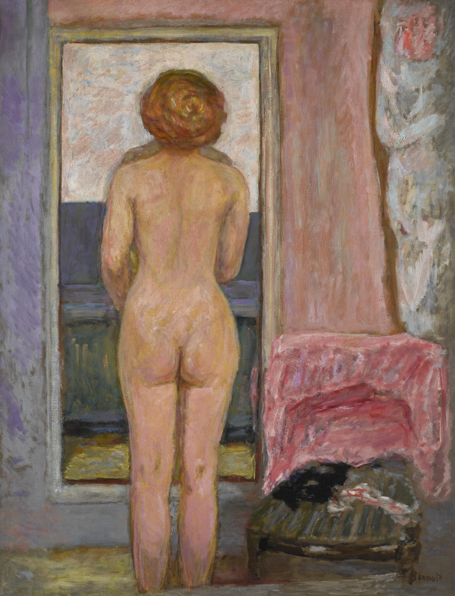 Pierre Bonnard-Femme Nue Vue De Dos-1916