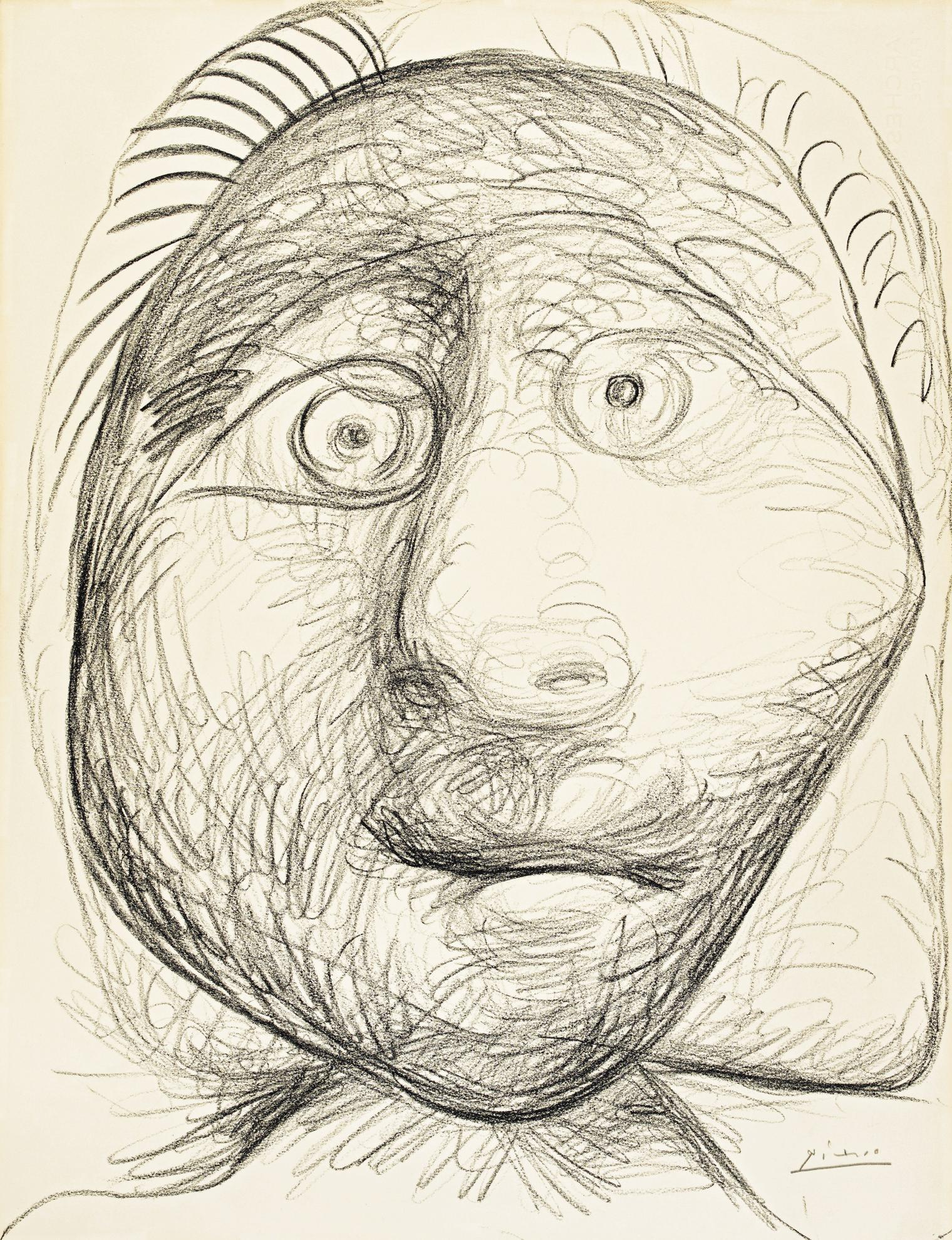 Pablo Picasso-Tete-1972