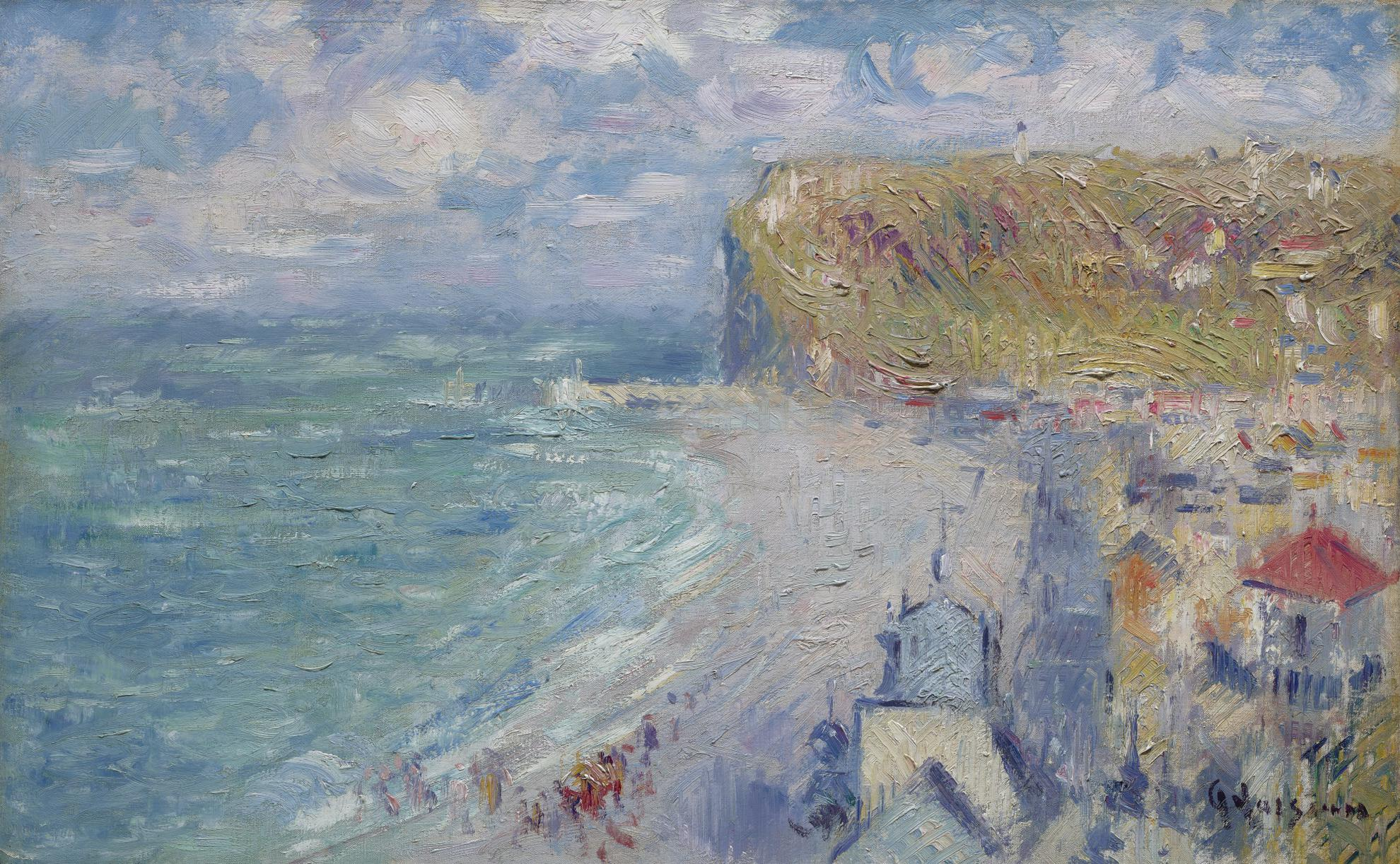 Gustave Loiseau-La Plage De Fecamp-