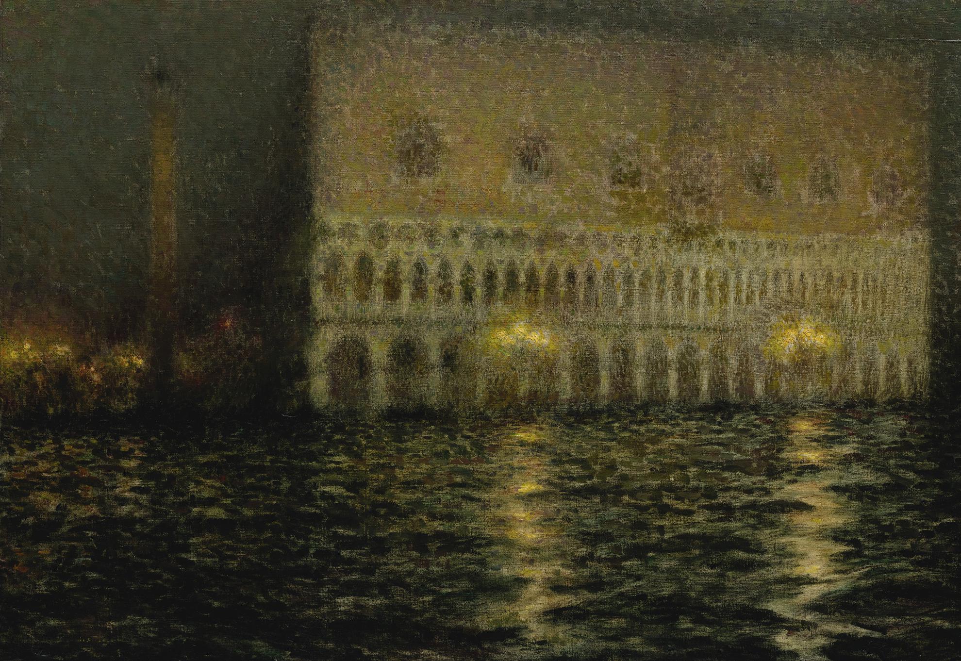 Henri Eugene Le Sidaner-Le Palais Ducal-1906