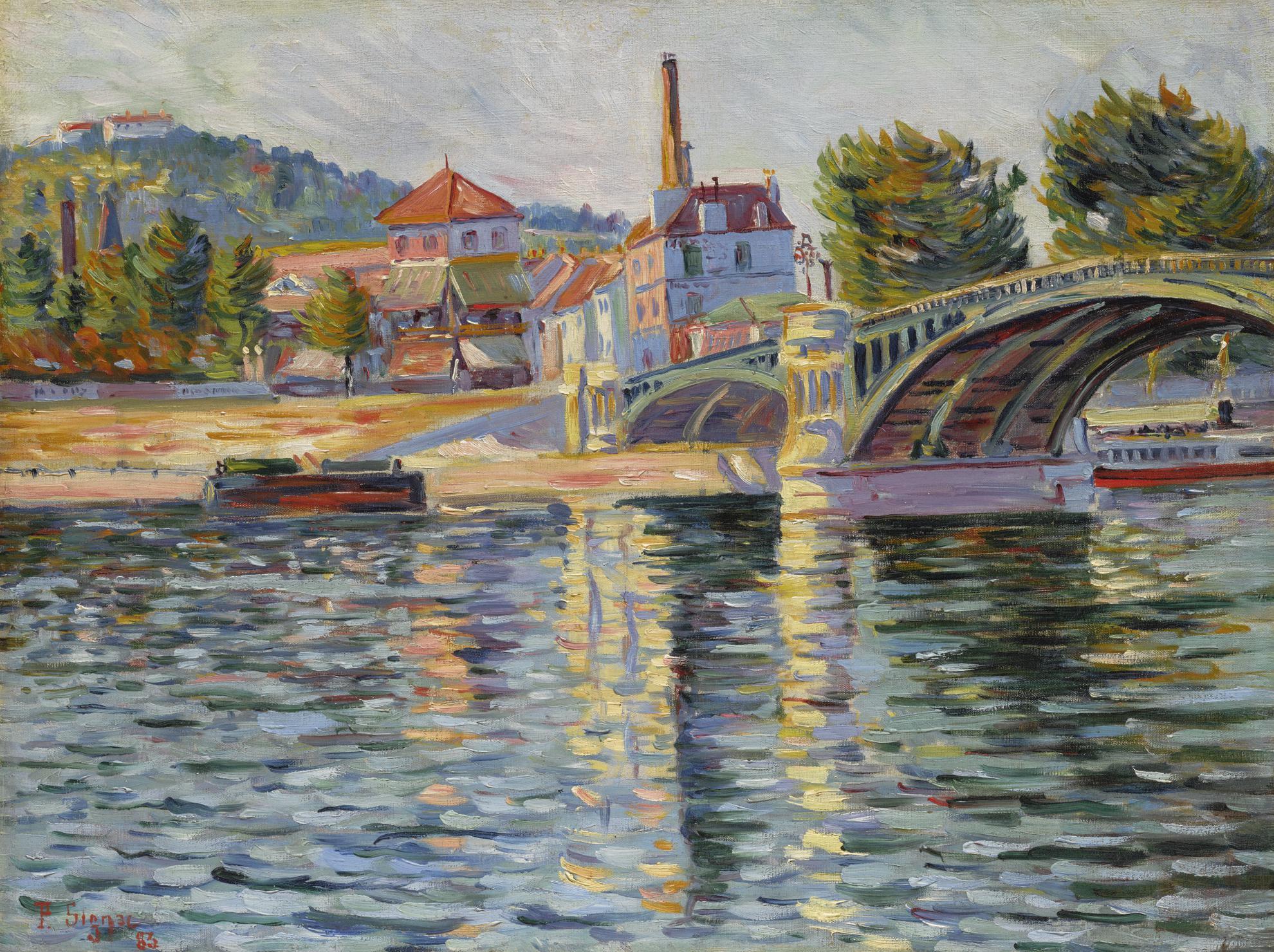 Paul Signac-Le Pont De Suresnes-1884