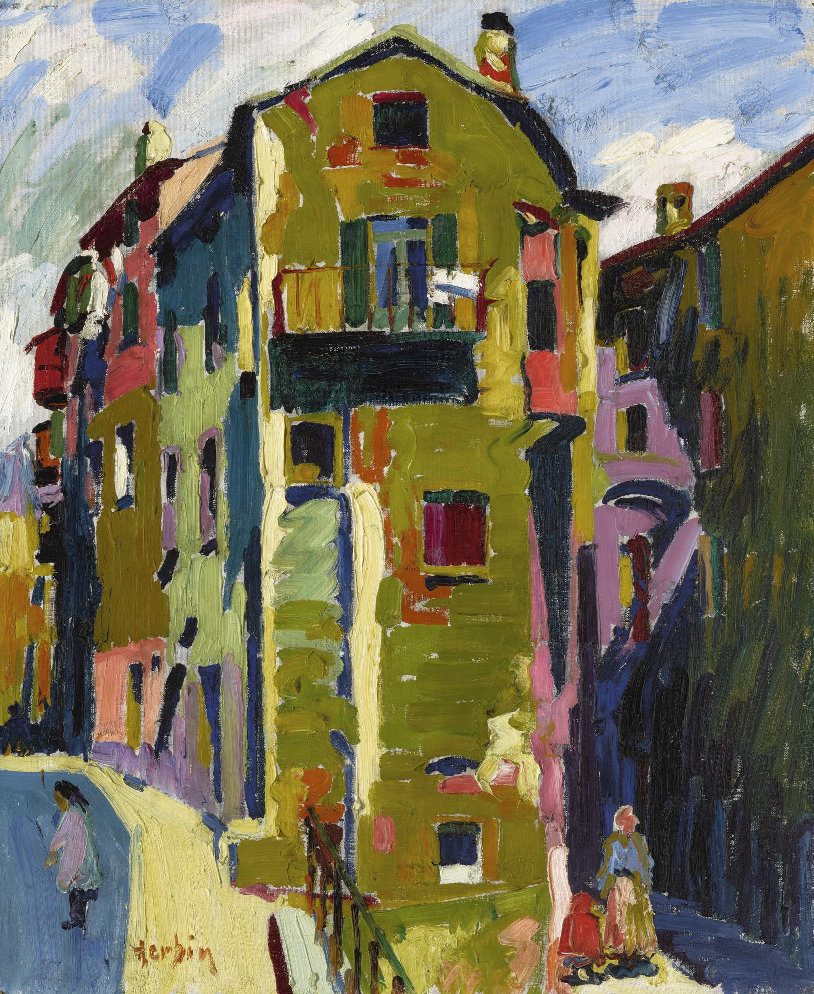 Auguste Herbin-La Place Maubert-1907