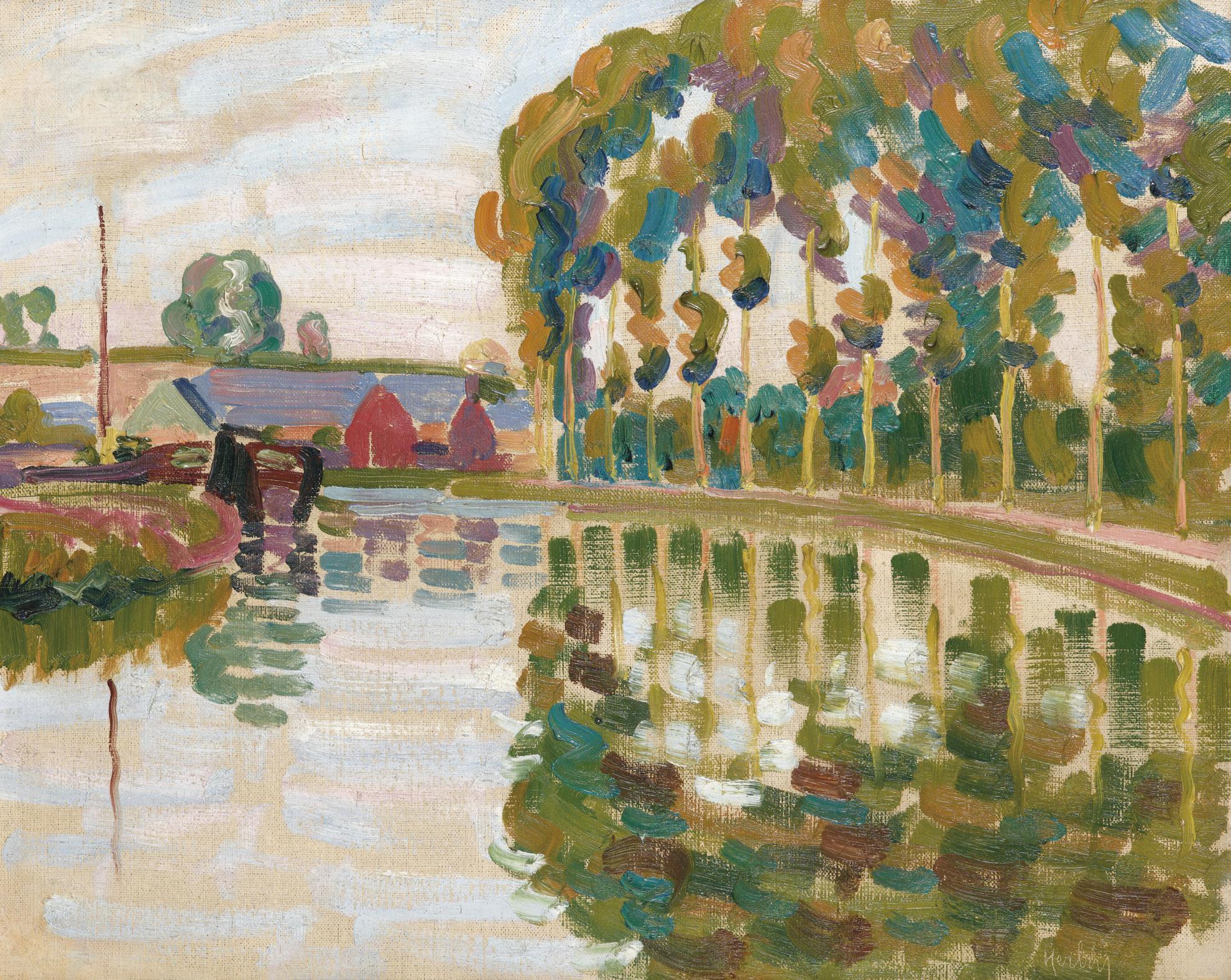 Auguste Herbin-Paysage Aux Peupliers-1907