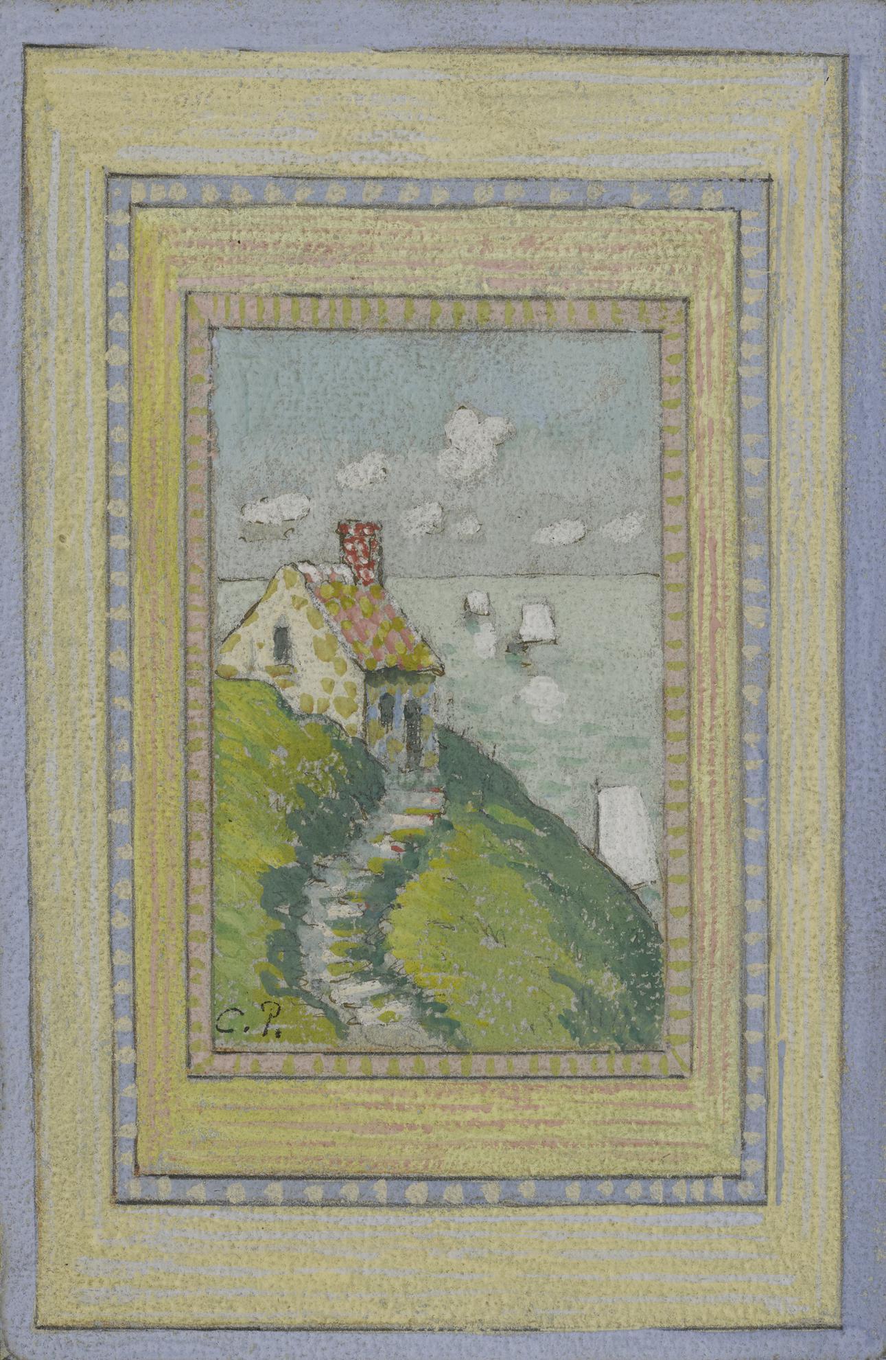 Camille Pissarro-Maison Sur La Falaise-1883