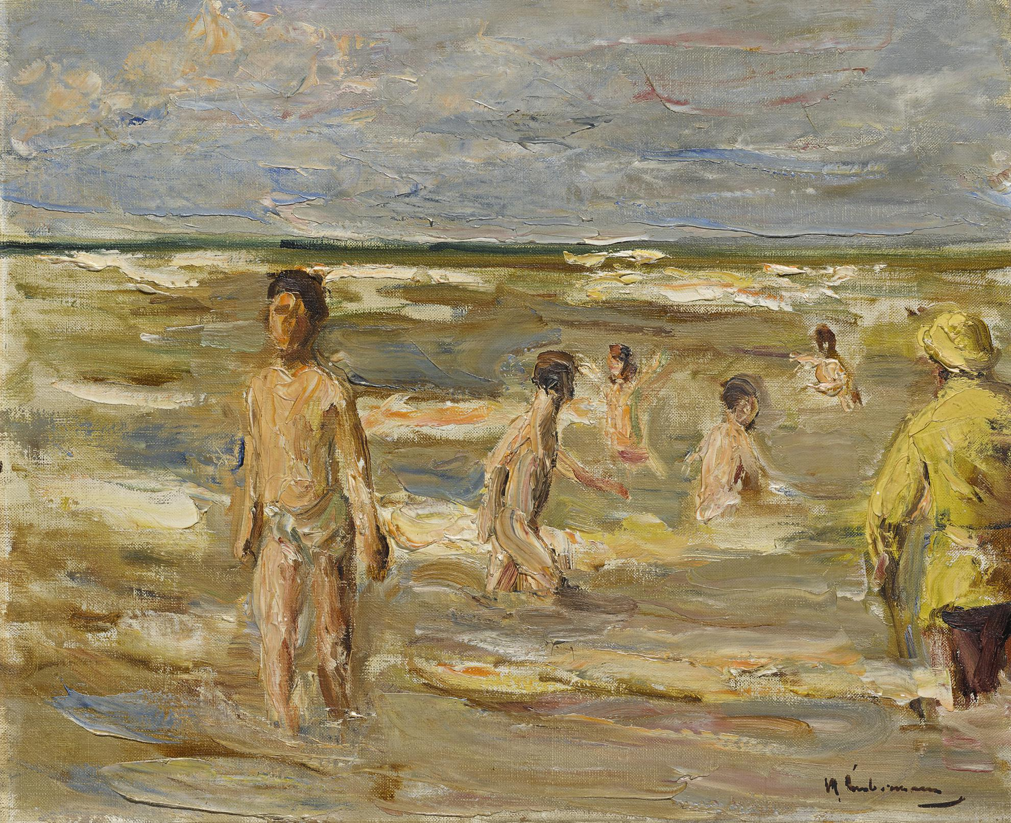 Max Liebermann-Badende Knaben (Bathing Boys)-1899