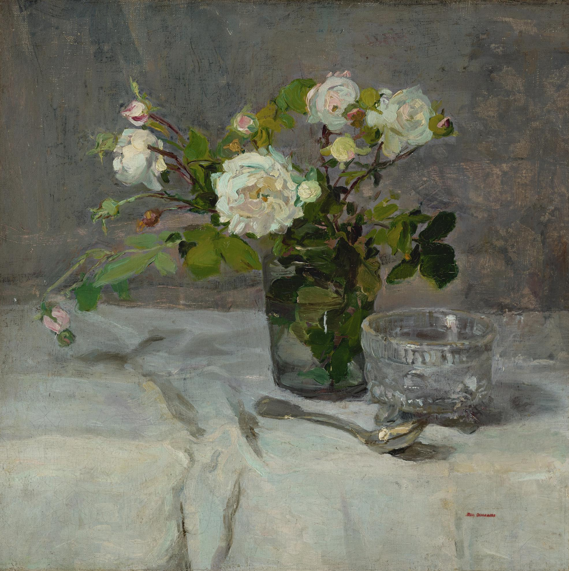Eva Gonzales-Roses Dans Un Verre-1882