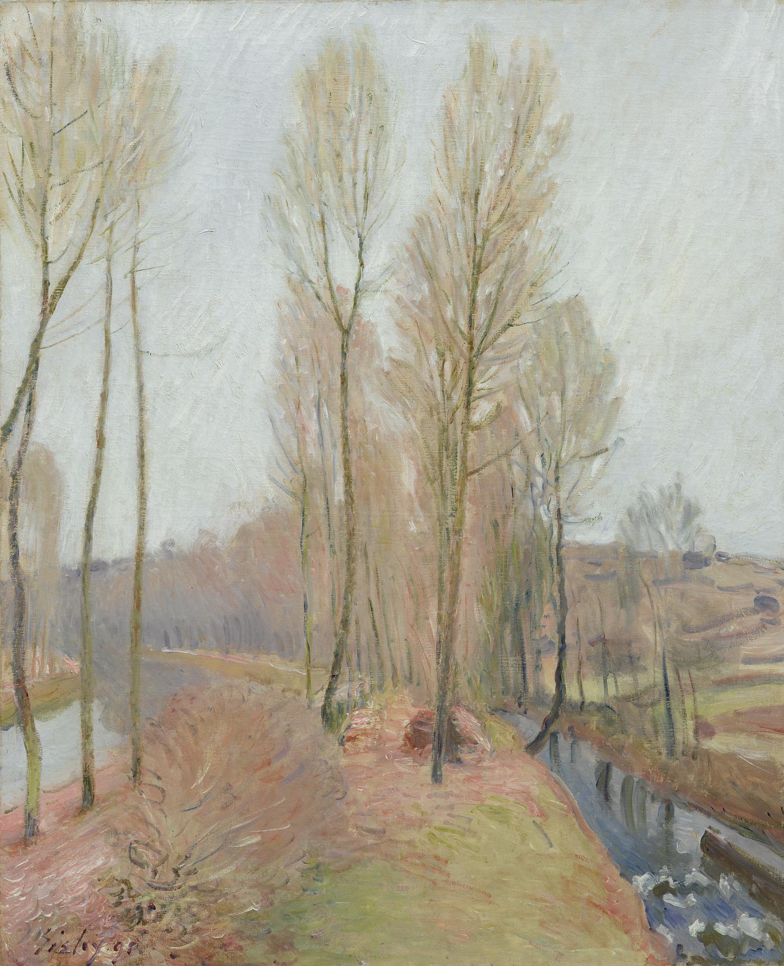 Alfred Sisley-Lorvanne Et Le Canal Du Loing En Hiver-1891