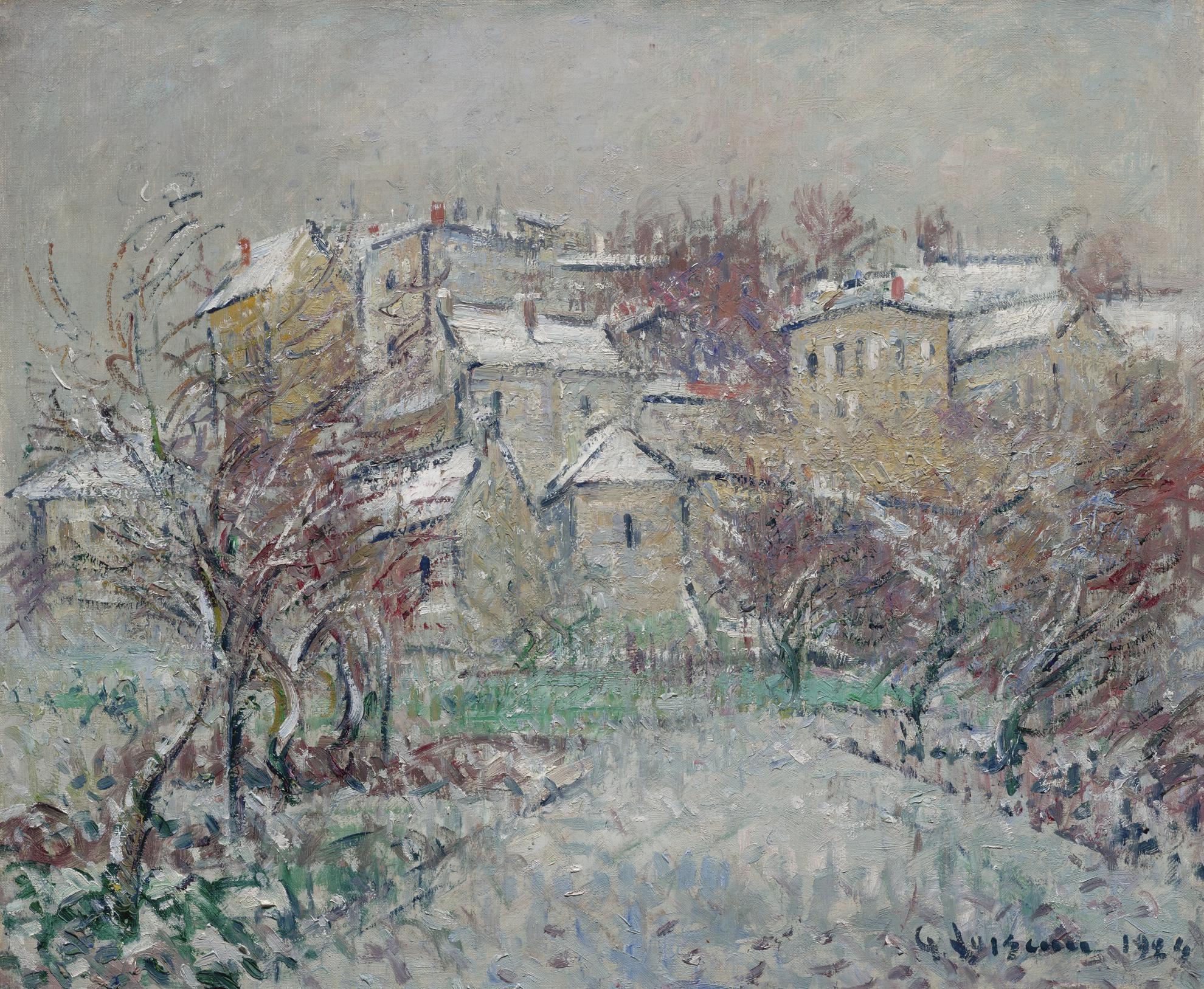 Gustave Loiseau-La Neige, Pontoise-1924