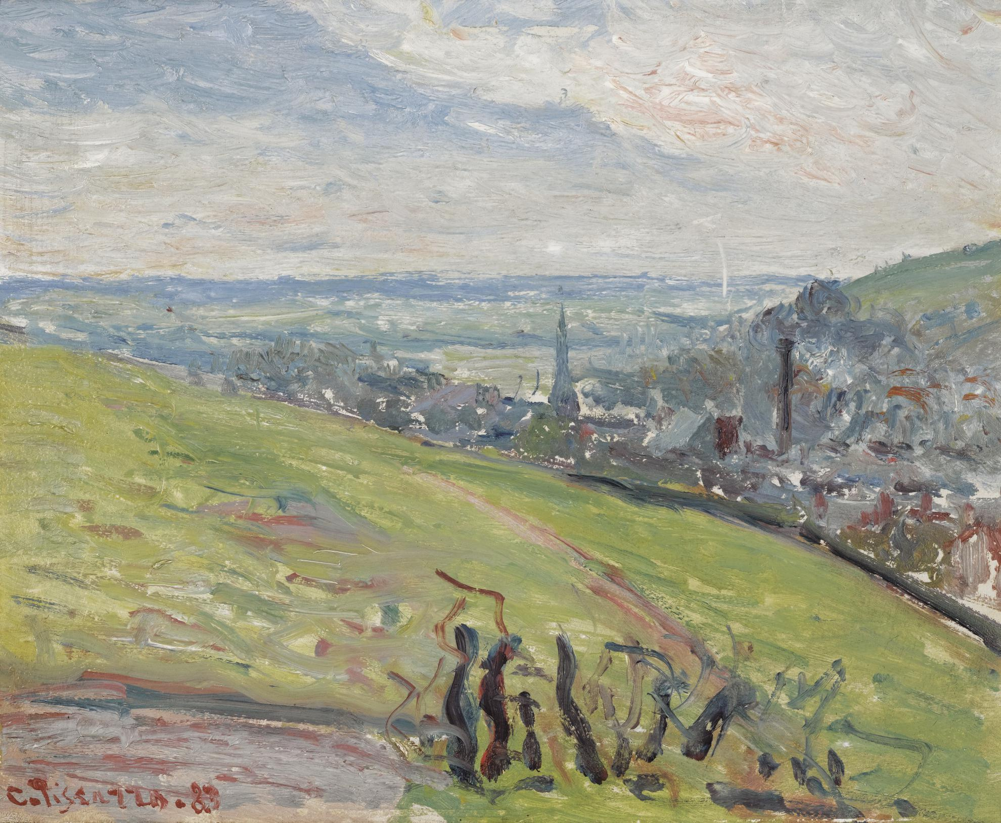 Camille Pissarro-Environs De Rouen-1883