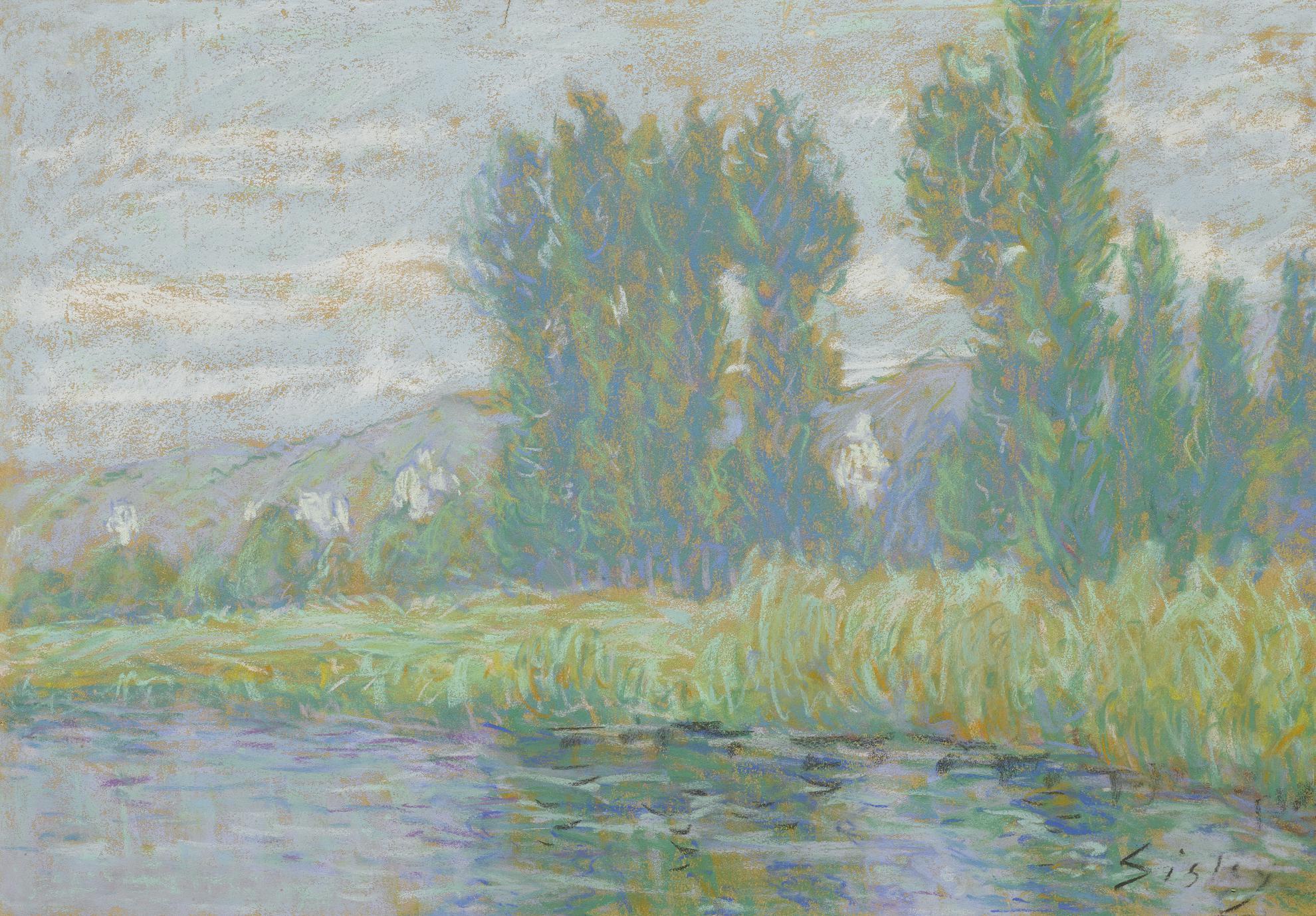 Alfred Sisley-Bords De La Seine A La Roche-Guyon-1890