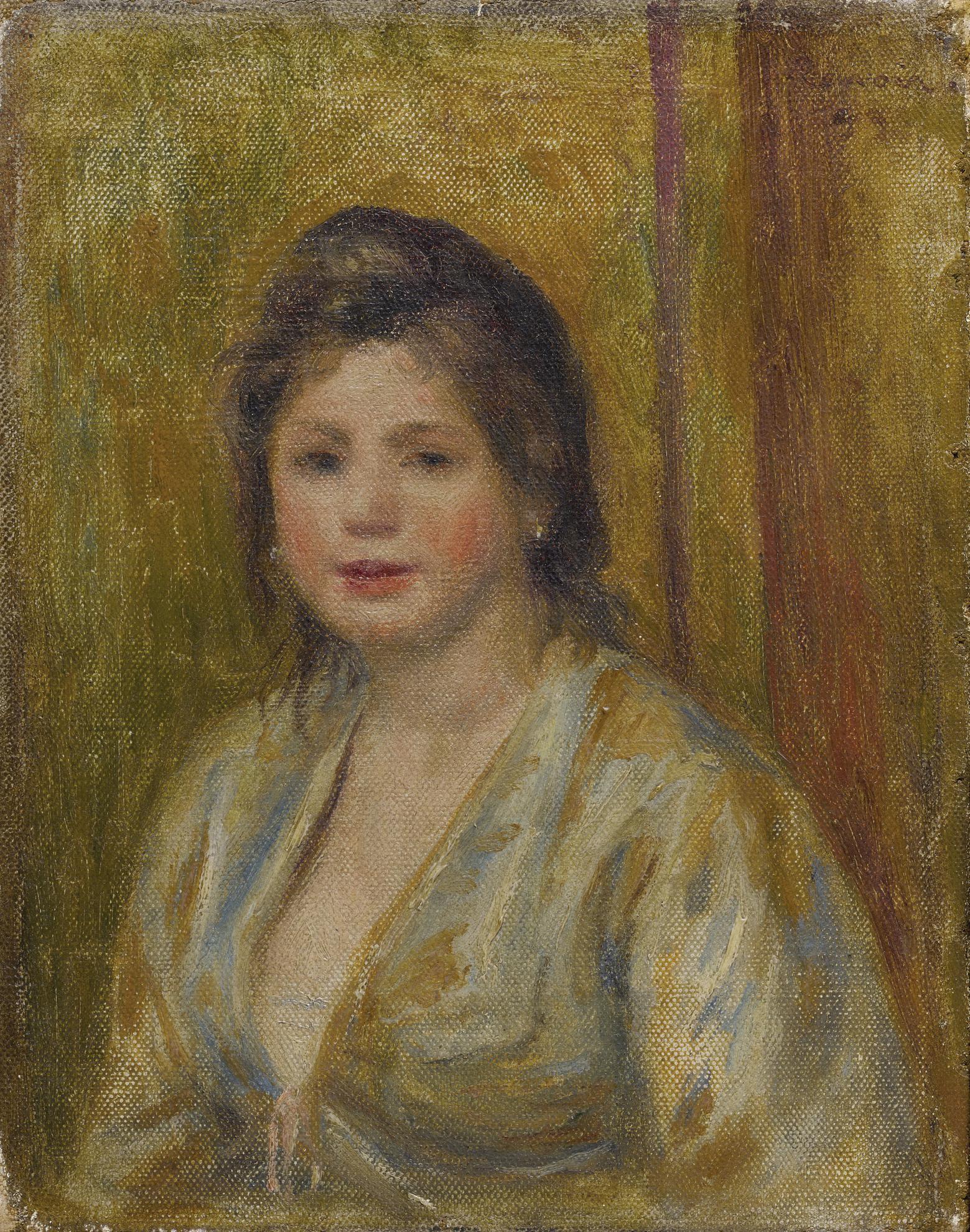 Pierre-Auguste Renoir-Portrait De Femme-1899