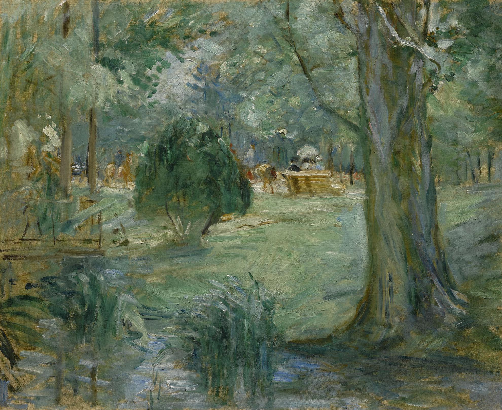 Berthe Morisot-Riviere Au Bois De Boulogne-1886