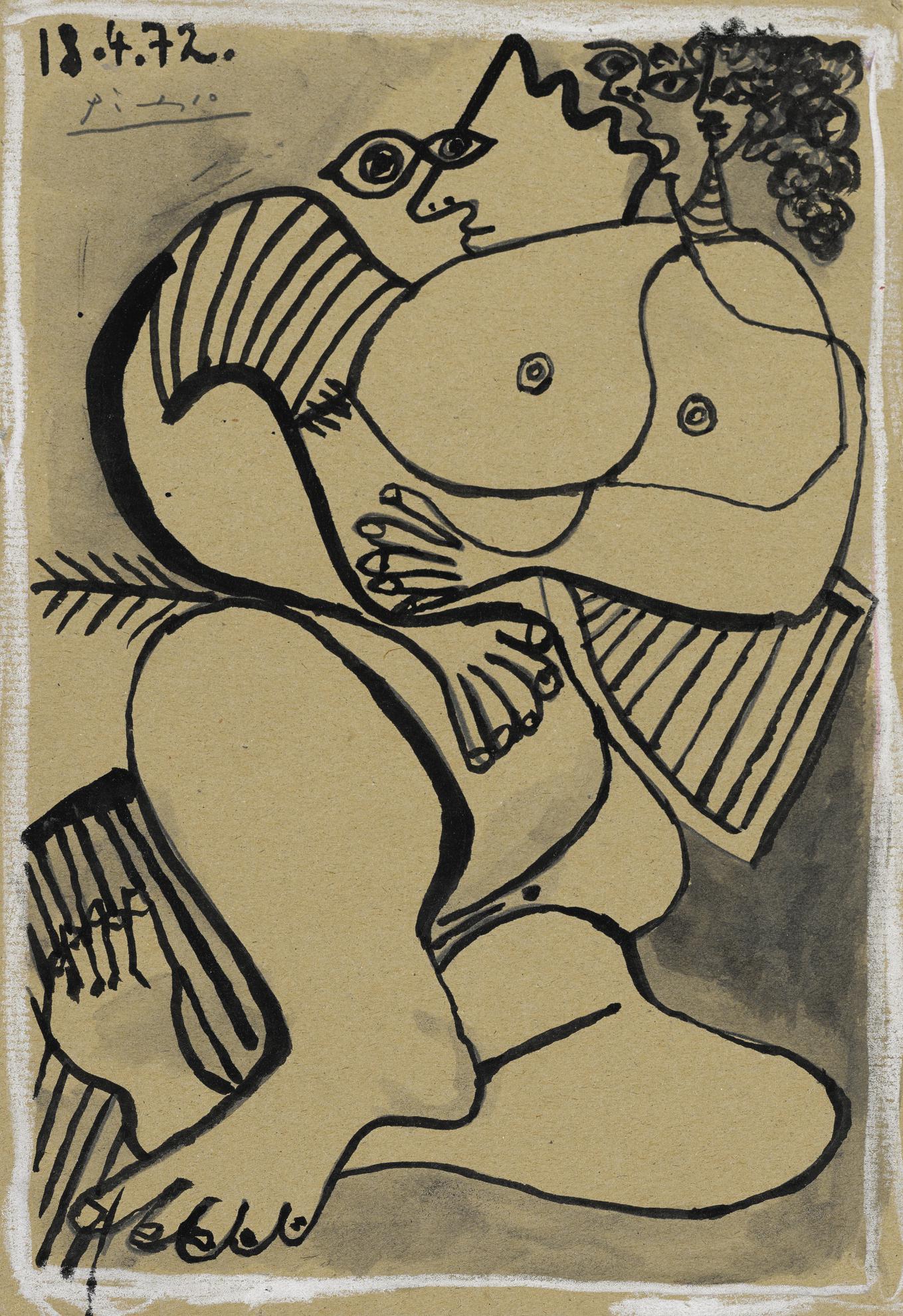 Pablo Picasso-Nu-1972