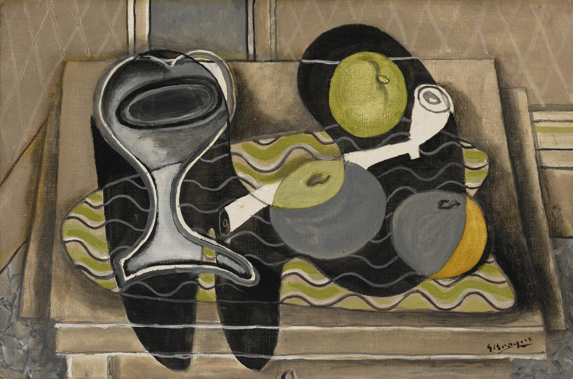 Georges Braque-Nature Morte A La Pipe (Nappe Rayee)-1932