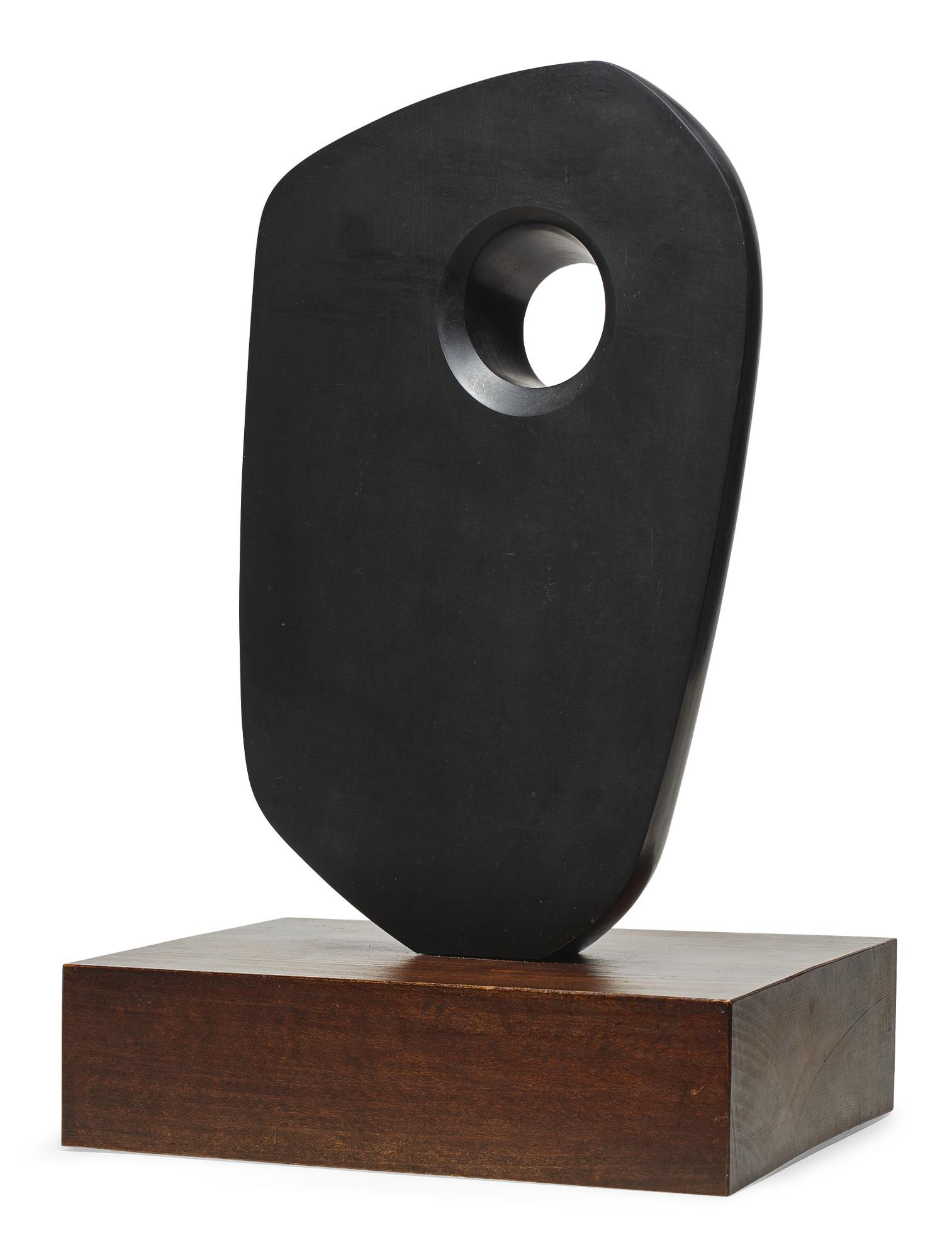 Barbara Hepworth-Poised Form II With Circle-1965