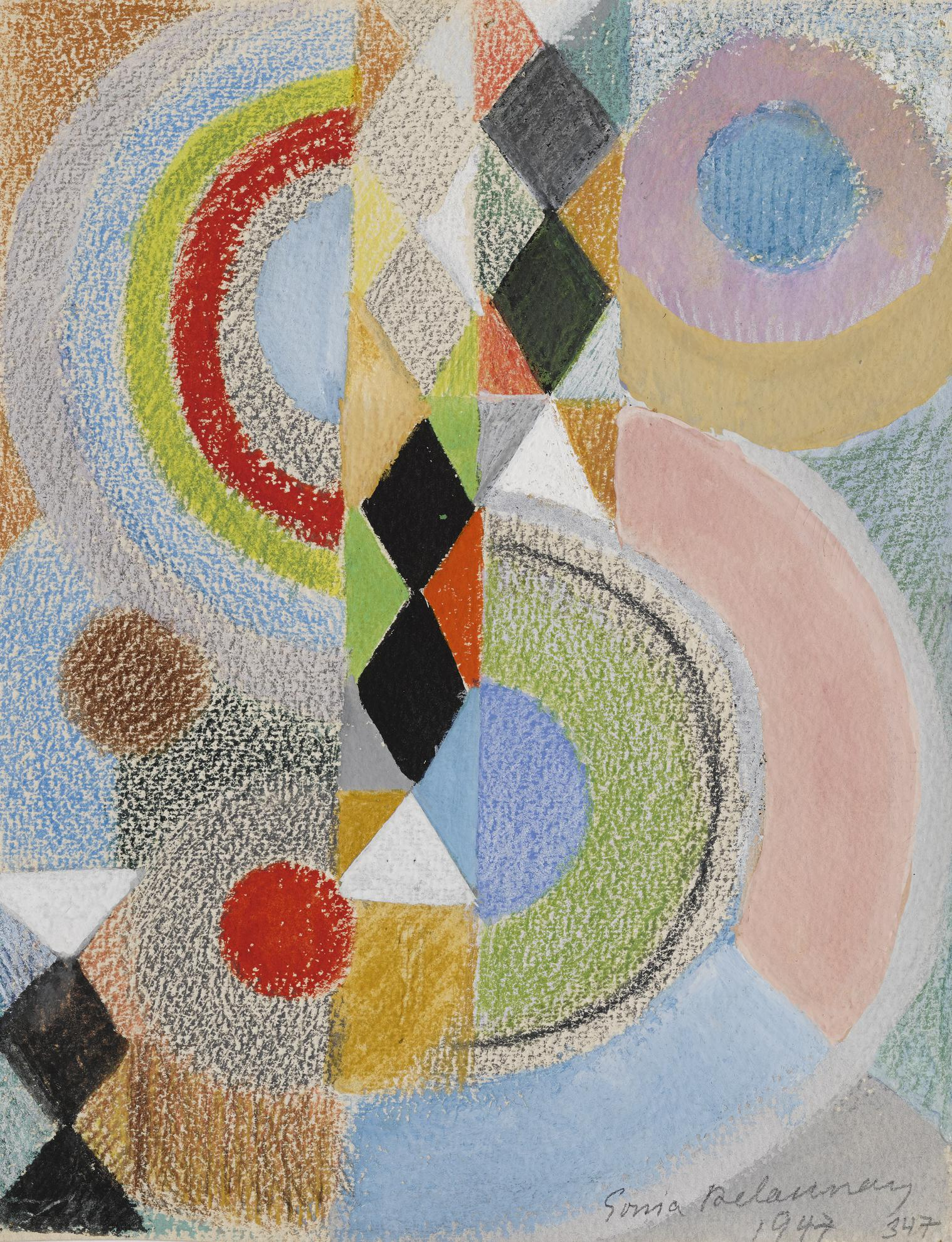 Sonia Delaunay-Rythme Couleur, No. 347-1947
