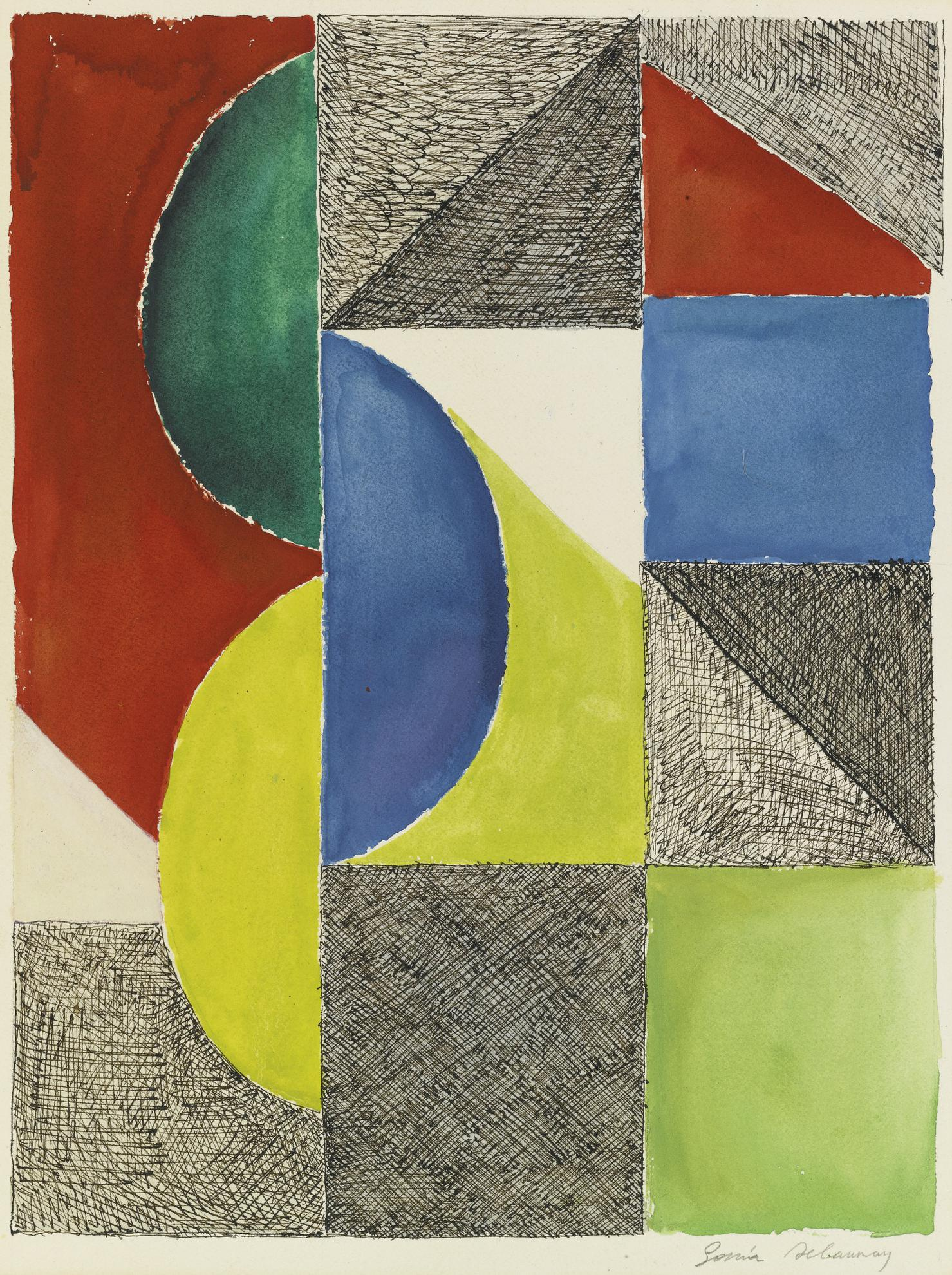 Sonia Delaunay-Rythme Couleur (F. 1831)-