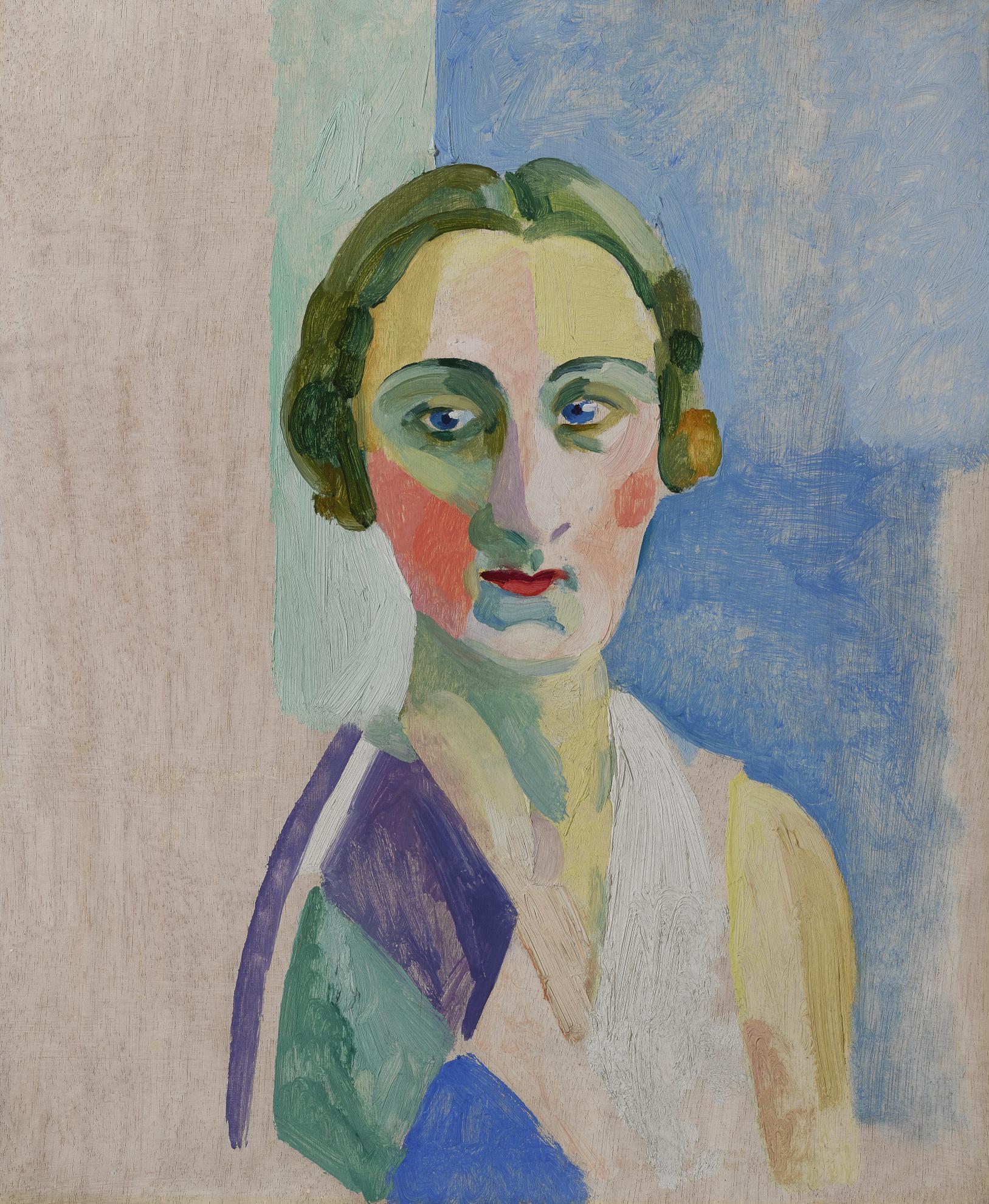 Robert Delaunay-Etude Pour La Portrait De Madame Heim-1926