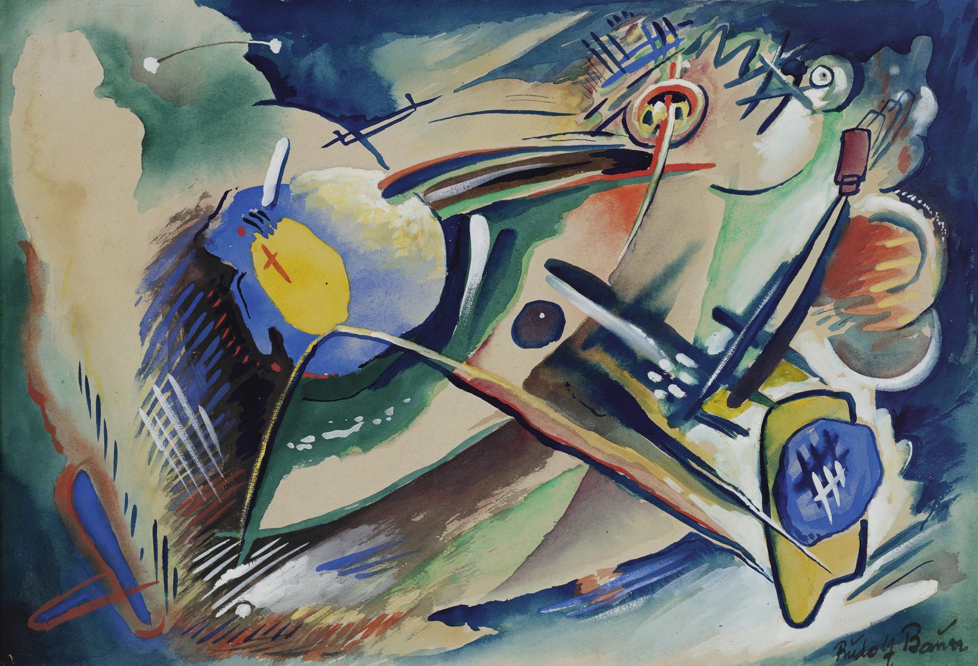 Rudolf Bauer-Andante-1920