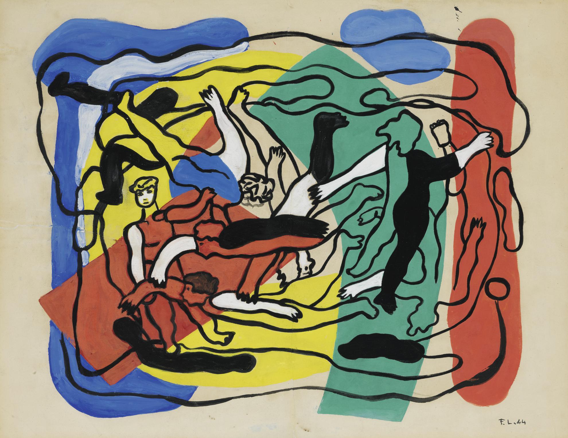 Fernand Leger-Les Plongeurs-1944