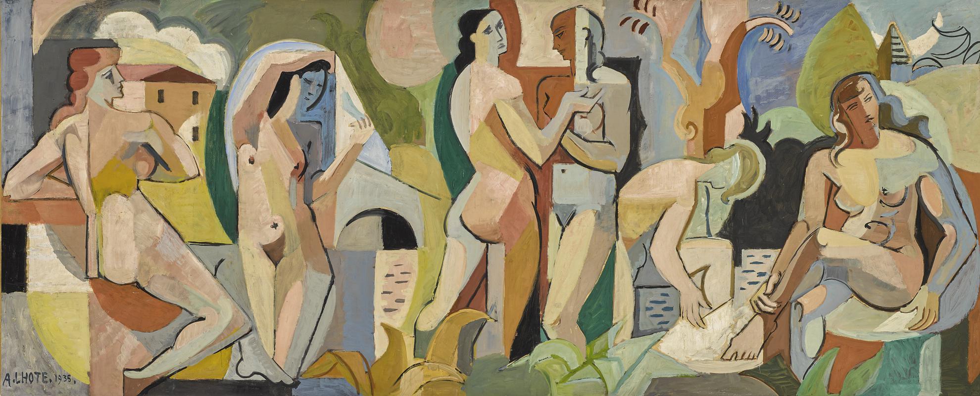 Andre Lhote-Les Baigneuses A Thonon-1935