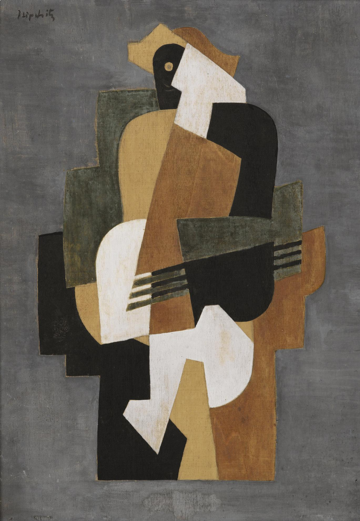 Jacques Lipchitz-Composition Cubiste-1918