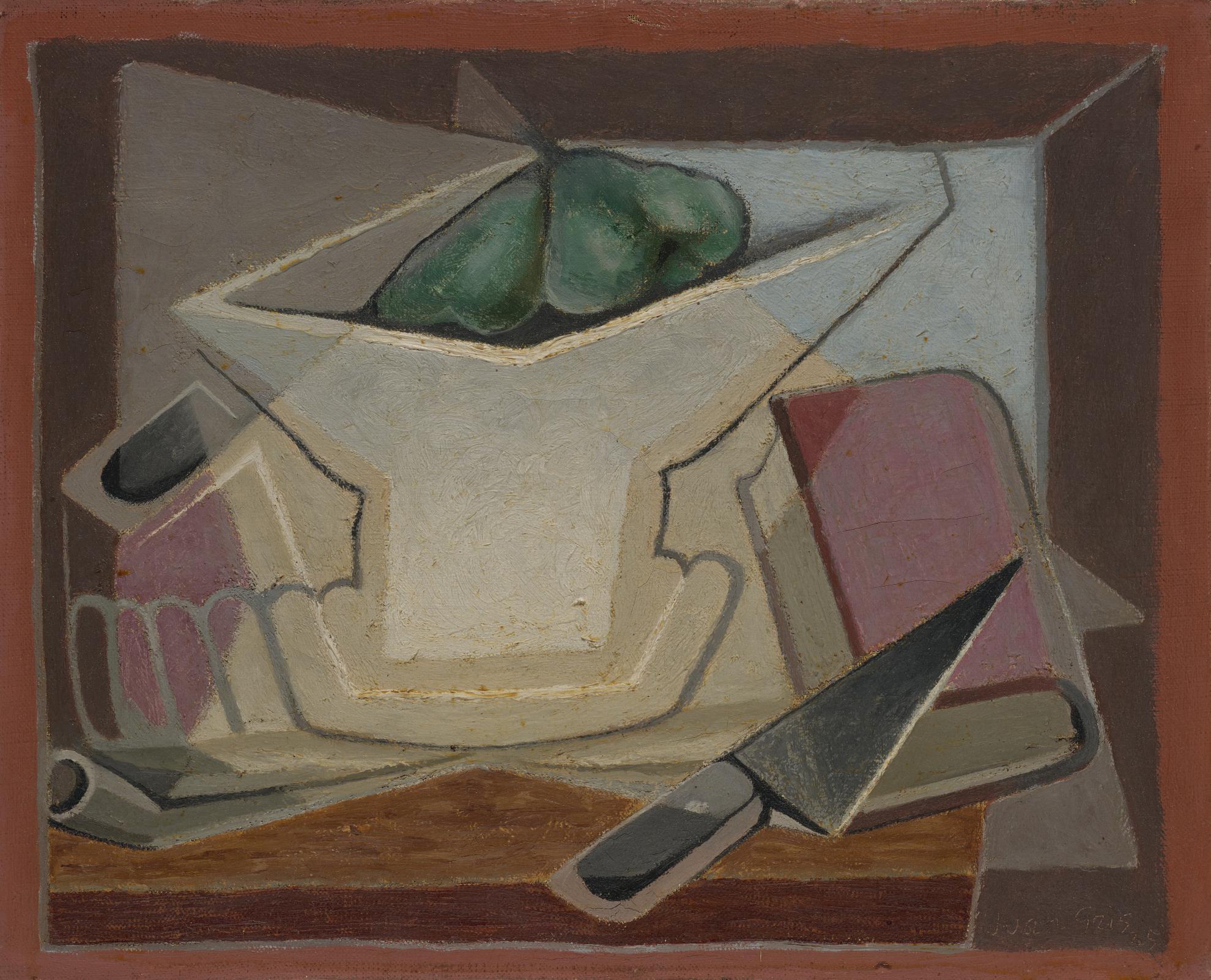 Juan Gris-Compotier Et Livre-1925