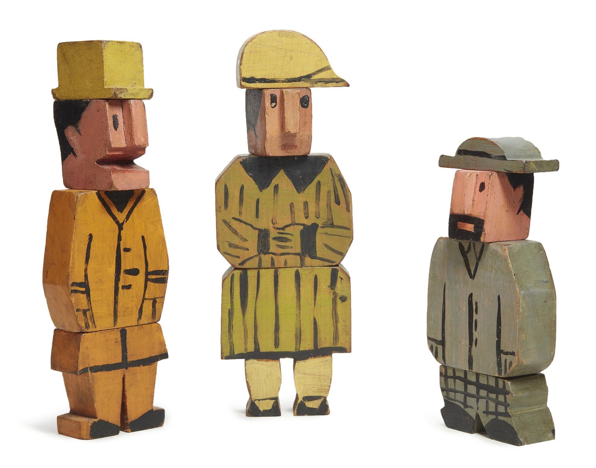 Joaquin Torres-Garcia-Personnages (Una Figura Femenina Y Dos Masculinas)-1925