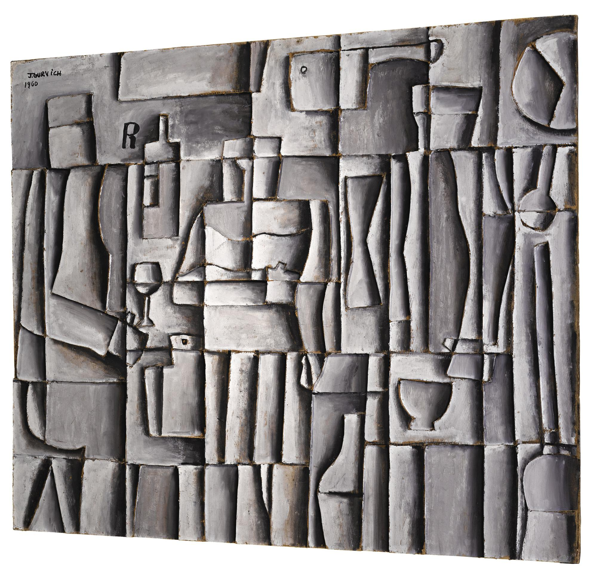 Jose Gurvich - Estructura Con Figuras-1960