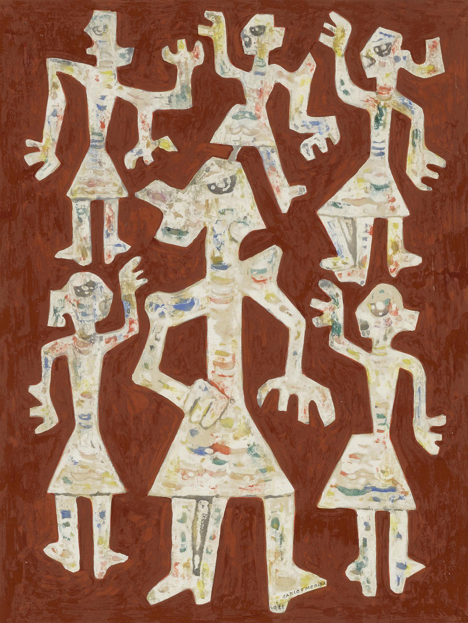 Carlos Merida-Taller En El Muro (De La Serie Imagenes De Guatemala)-1948