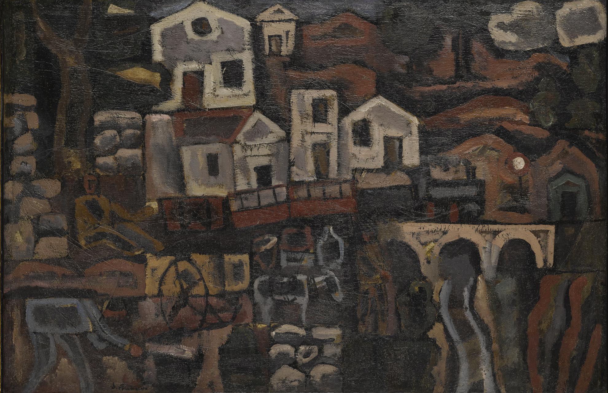 Joaquin Torres-Garcia-The Village-1925