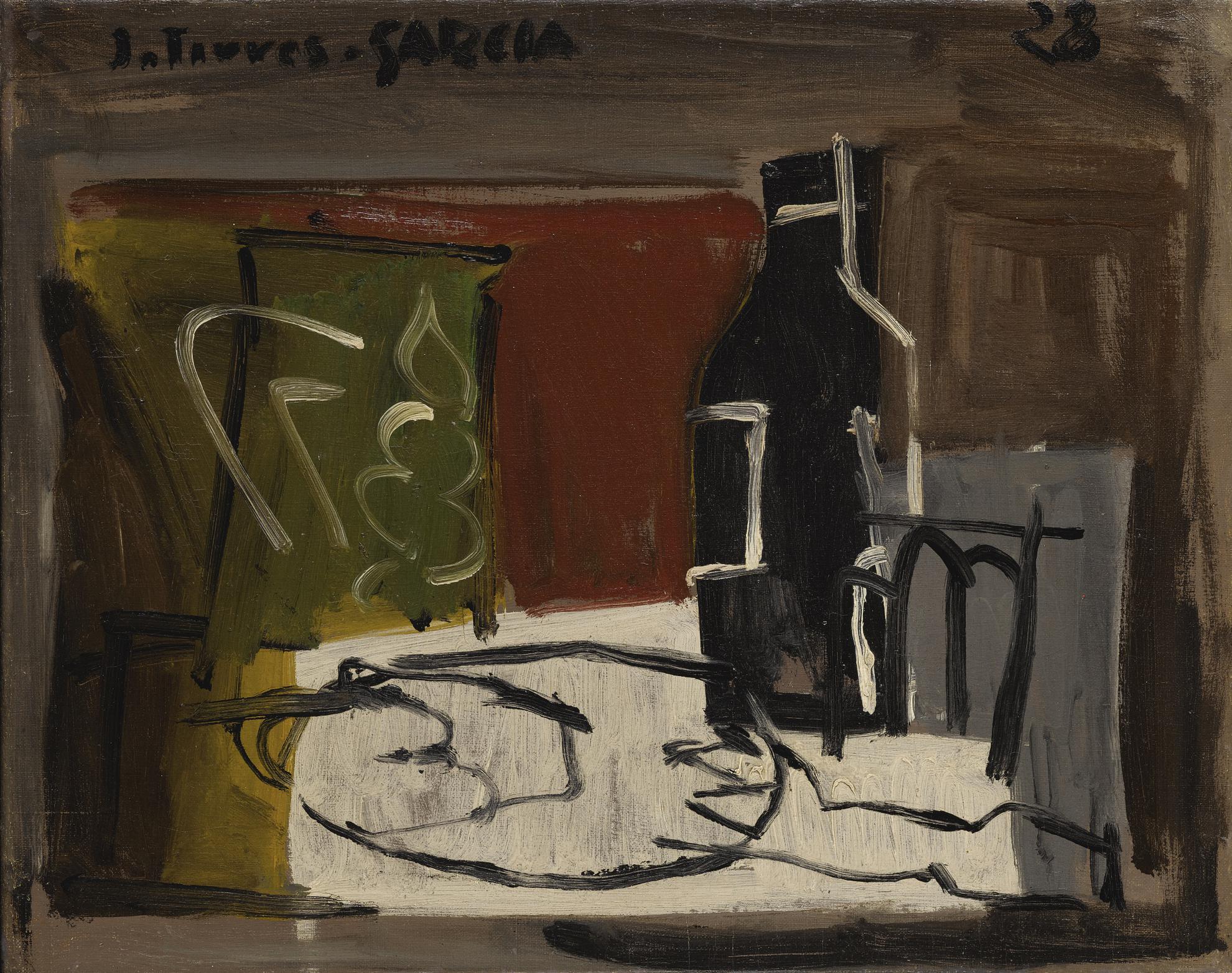 Joaquin Torres-Garcia-Nature Morte Au Plat Blanc-1928