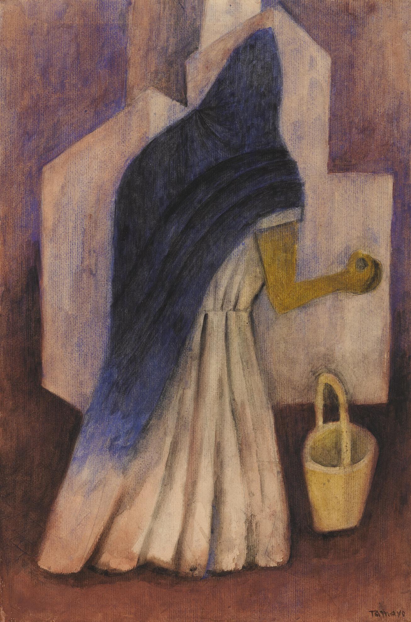 Rufino Tamayo-Mujer Con Rebozo-1940