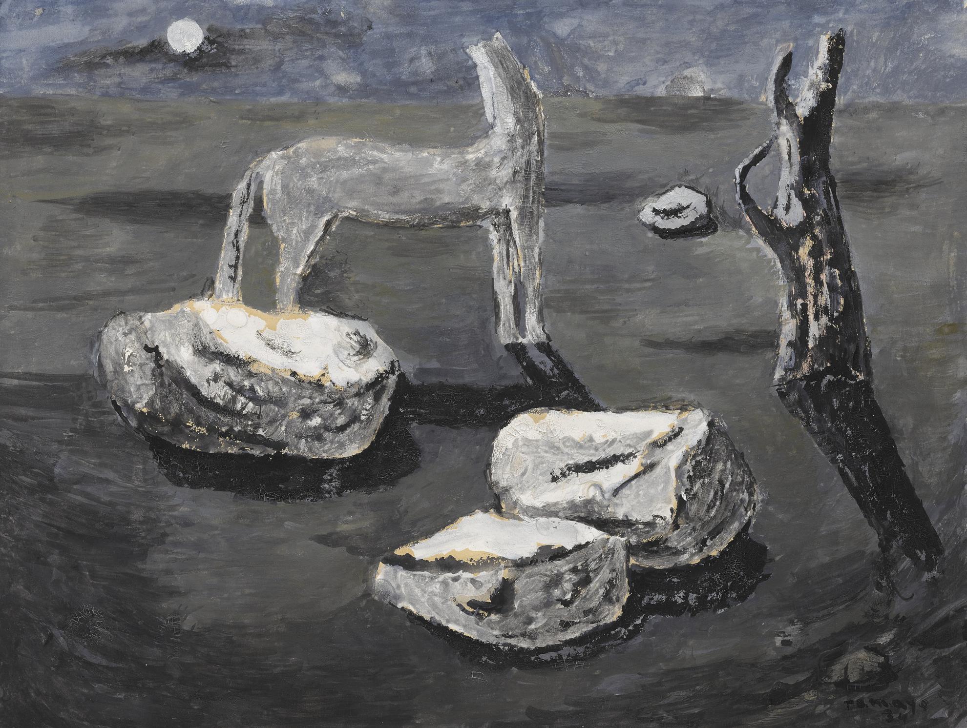 Rufino Tamayo-Caballo Viendo La Luna-1934