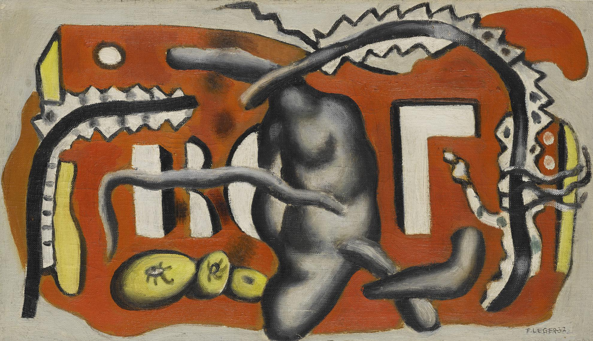 Fernand Leger-Nature Morte (Composition En Rouge)-1932