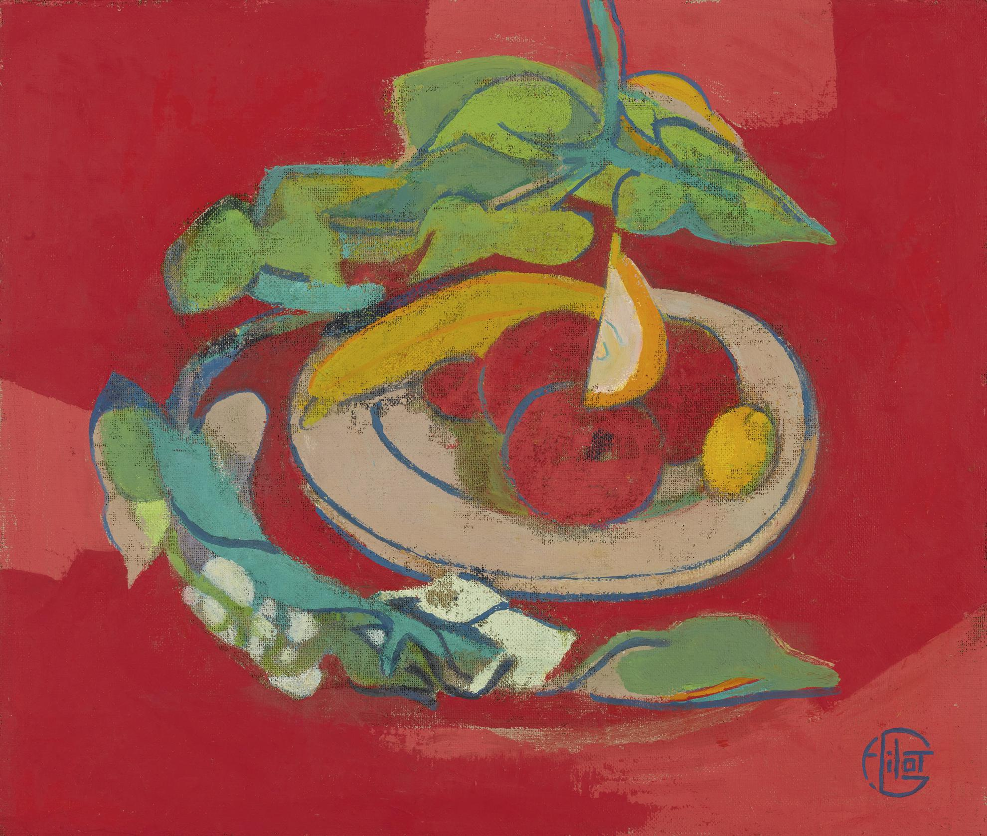 Francoise Gilot-Simply From Heart-A Dish Of Fruits-2000